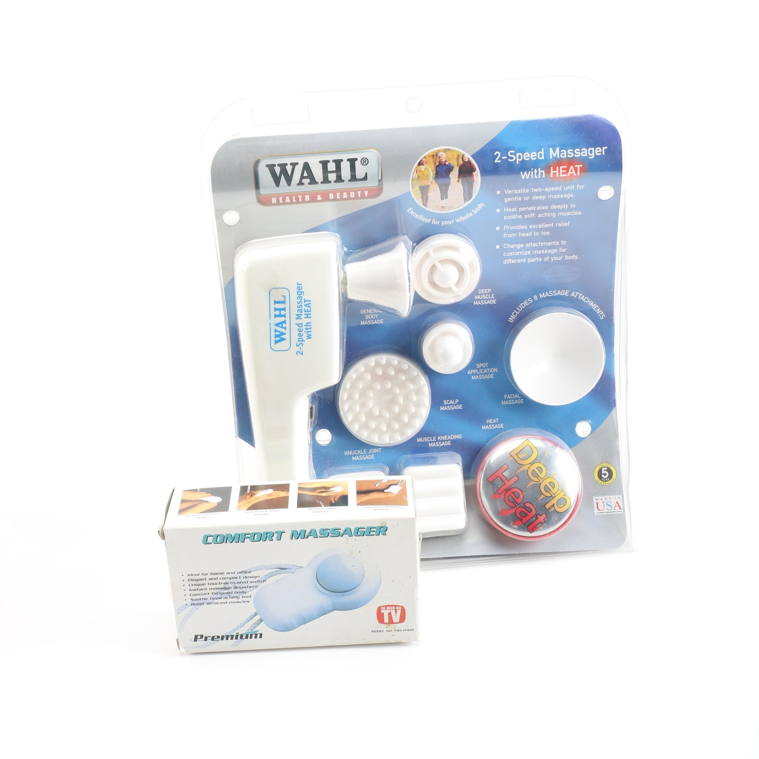 Wahl Heated Massager and Premium Comfort Massager