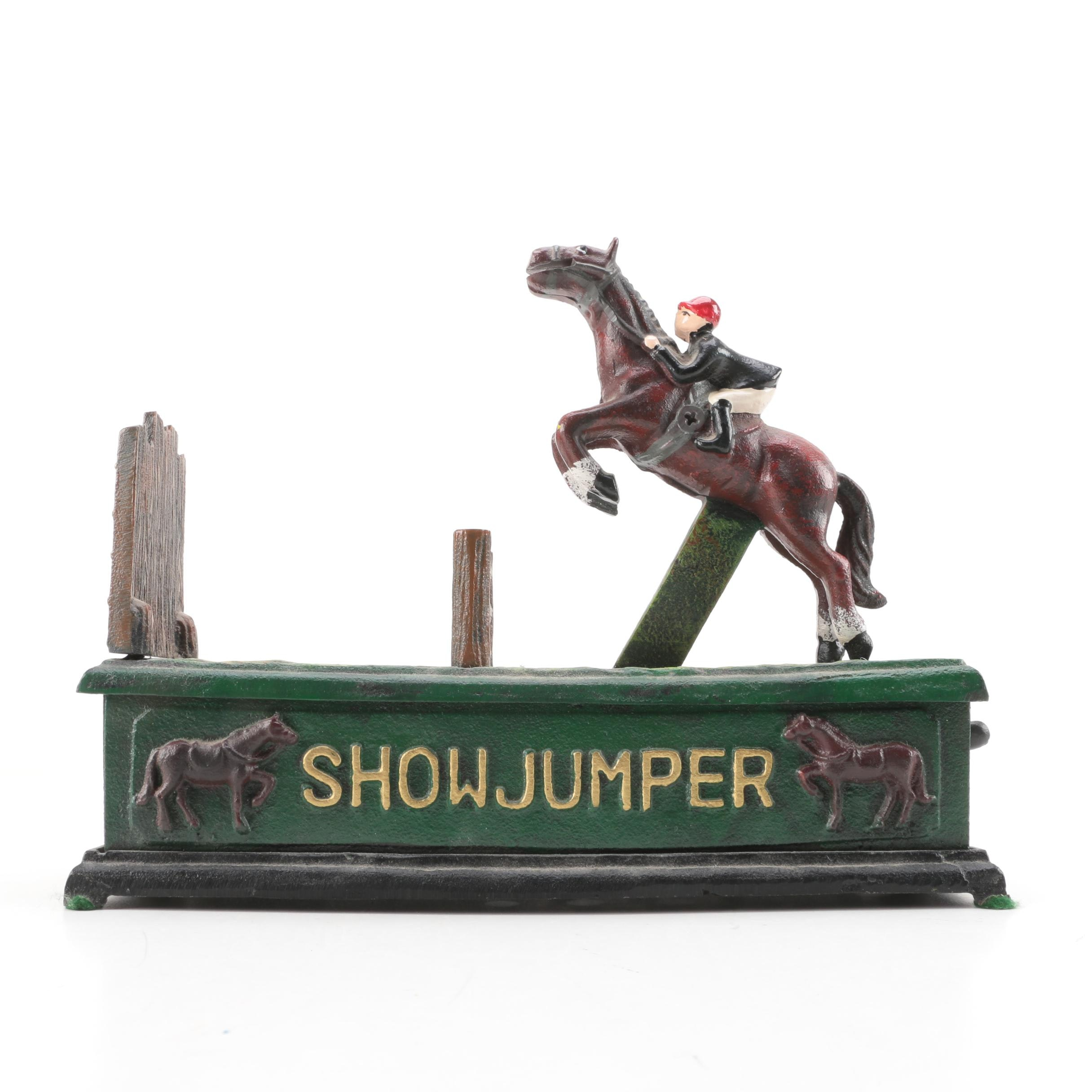 "Reproduction ""Show Jumper"" Cast Iron Bank"
