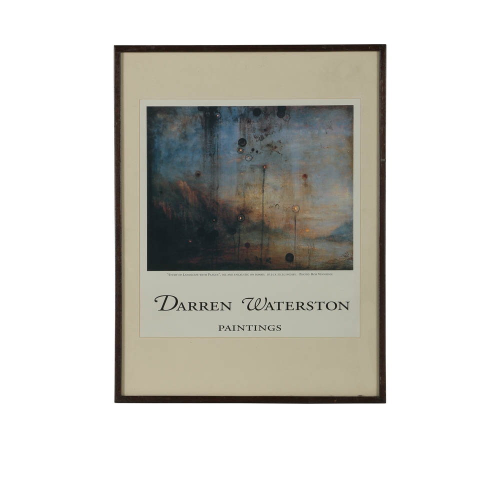 Offset Lithograph on Paper of a Darren Waterston Gallery Poster