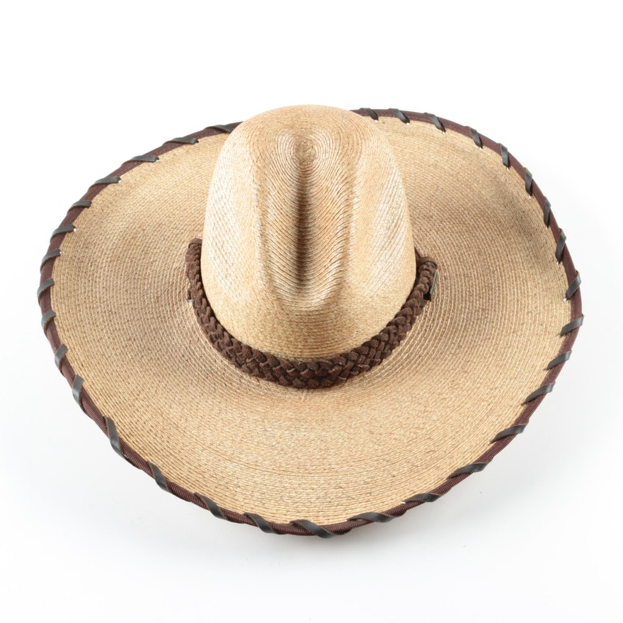 Palm Straw Cowboy. justin ambush cowboy hat palm straw cattleman ... ea7e4fed21b3