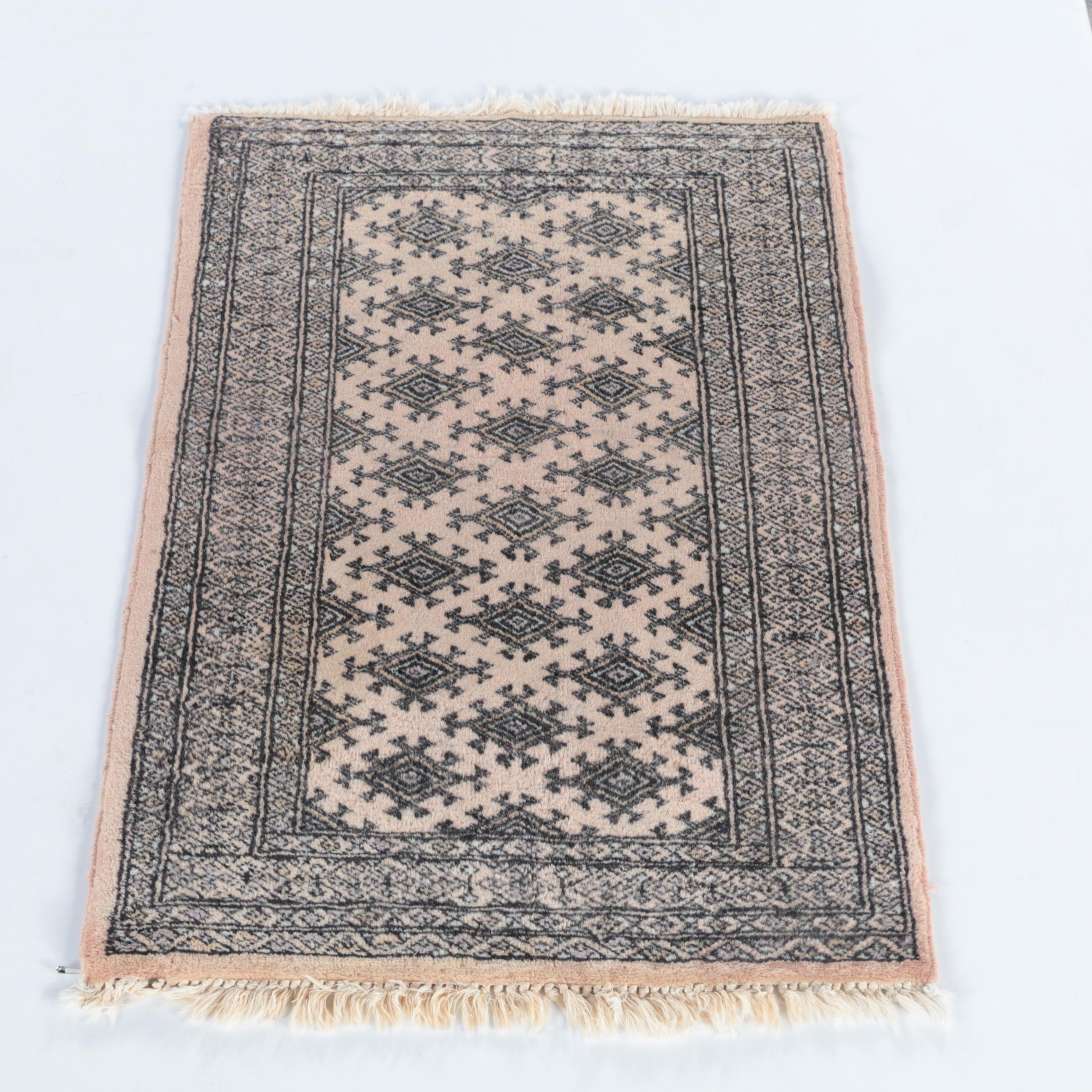Hand-Knotted Pakistani Wool Accent Rug by Ikea