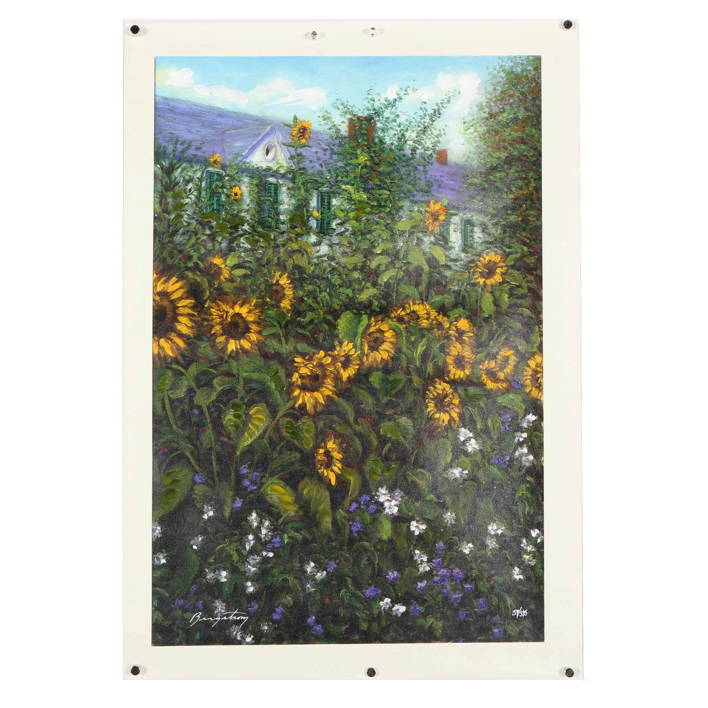 "Bergstrom Giclee ""Sunflower Cottage"""