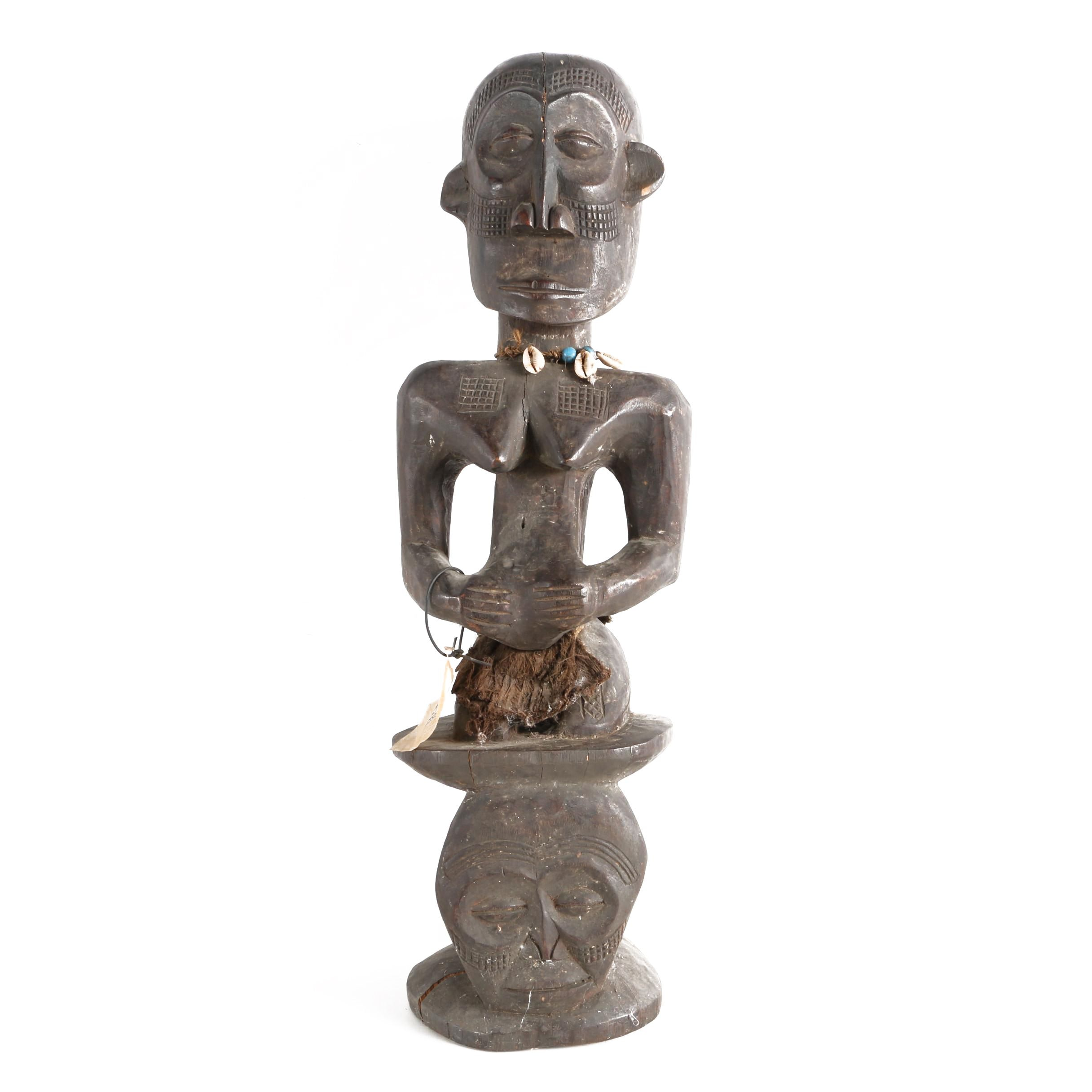 Central African Bembe Style Male Power Figure
