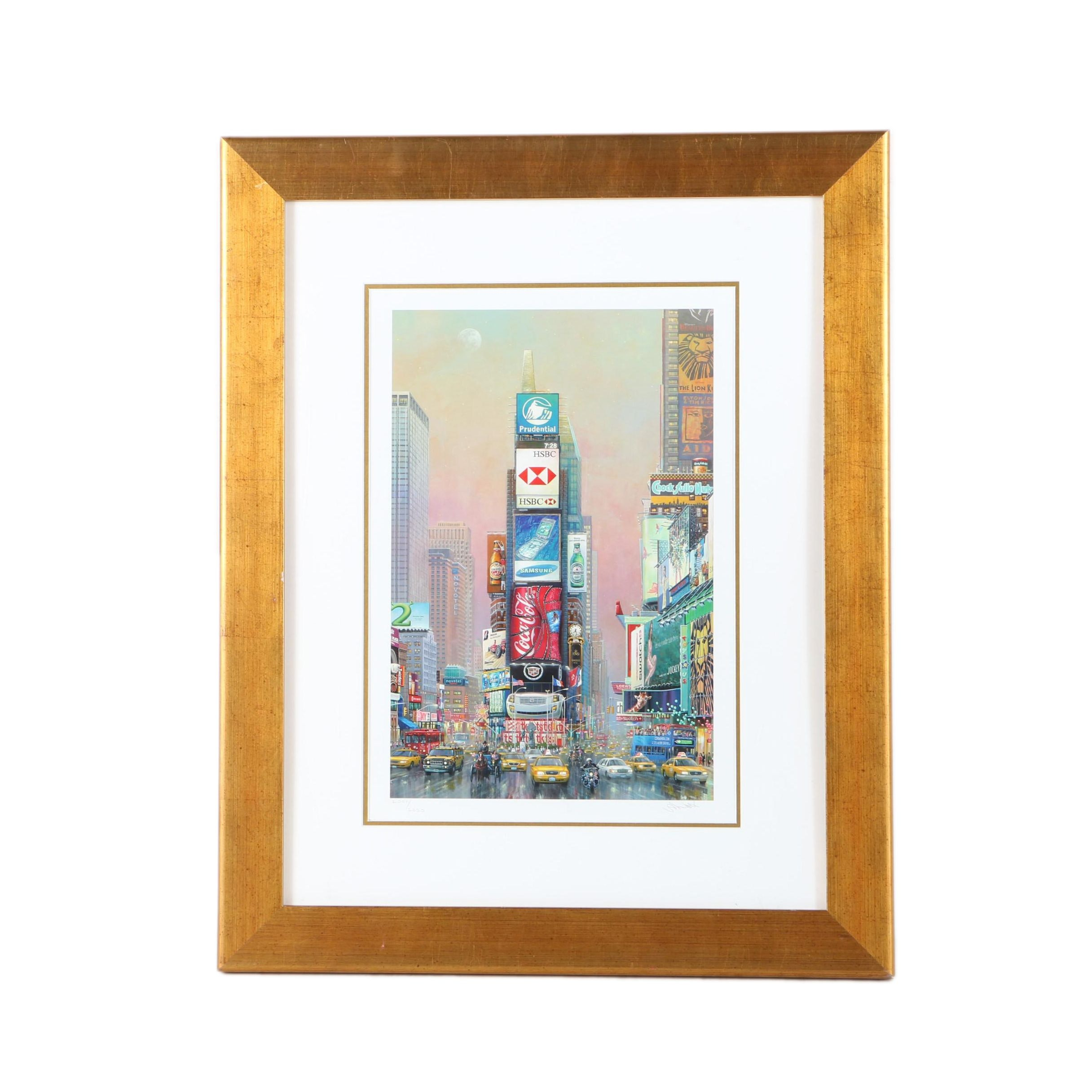 """Alexander Chen Limited Edition Offset Lithograph """"2 Times Square - North"""""""