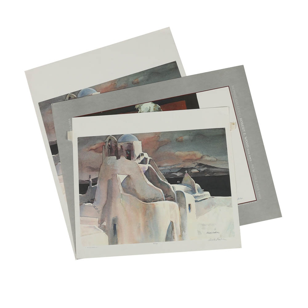 Robert E. Wood Limited Edition Offset Lithographs on Paper