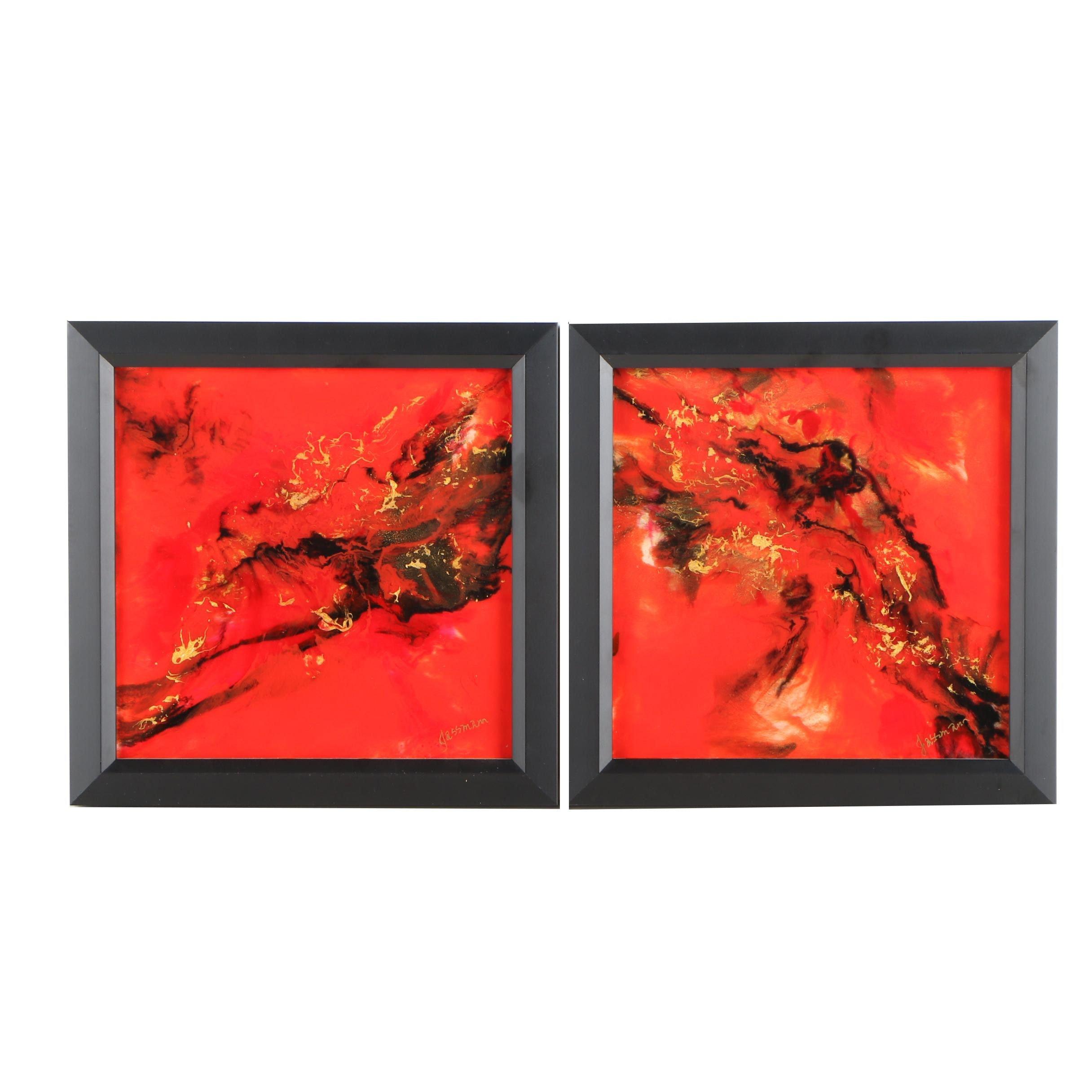 Donna Jassmann Acrylic Paintings on Canvas and Glass