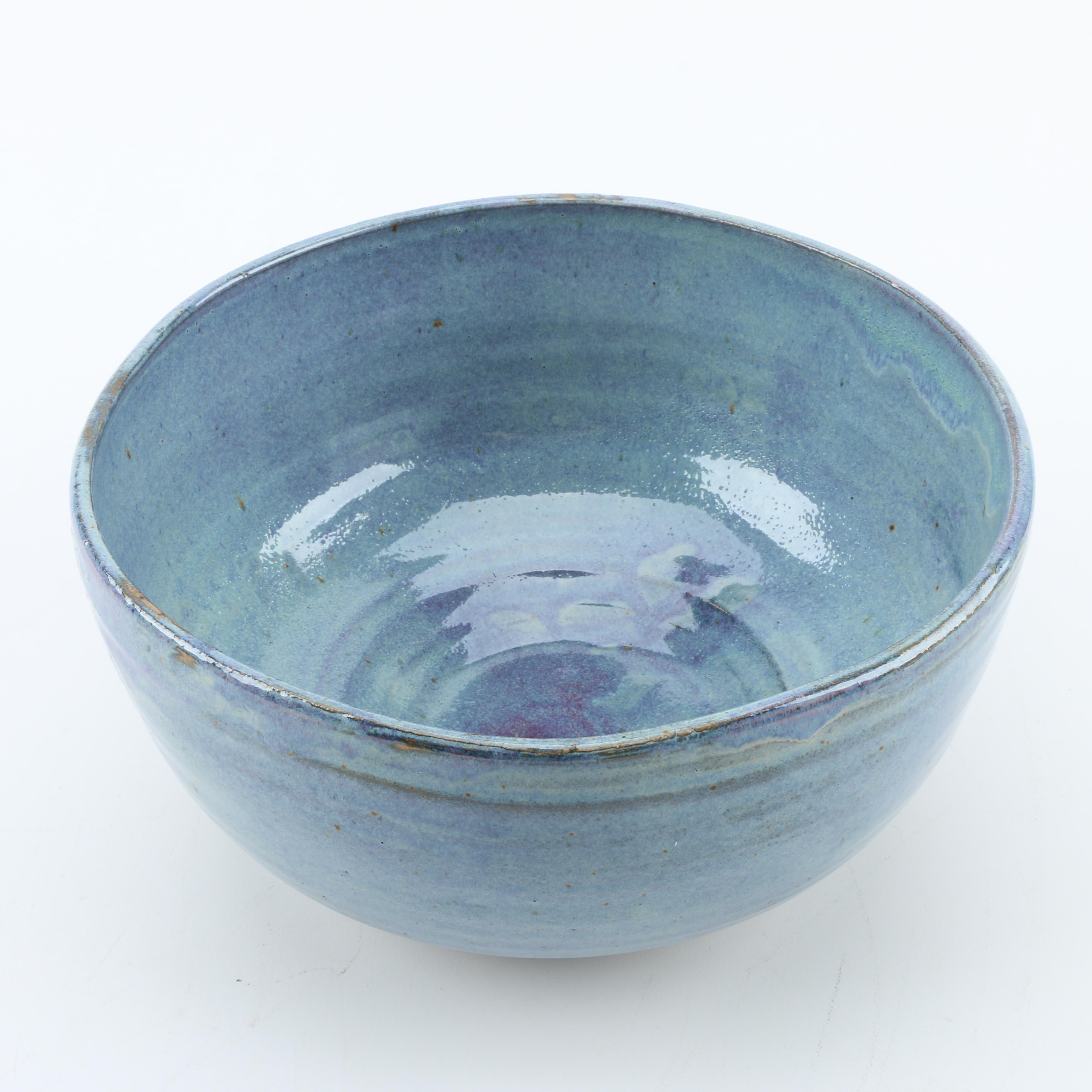 Chris Fiedler Hand Thrown Stoneware Bowl