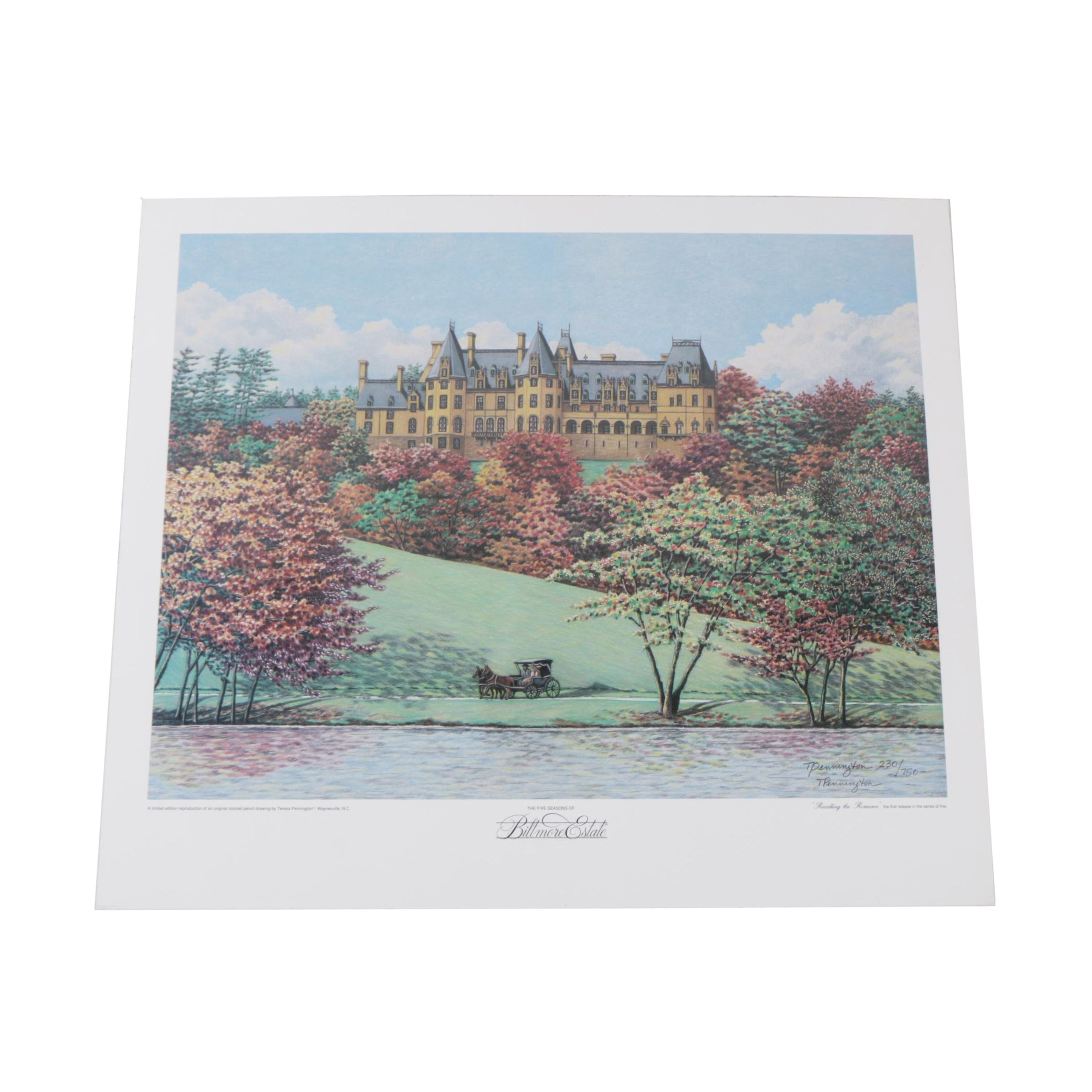 Teresa Pennington Limited Edition Offset Lithograph of the Biltmore Estate