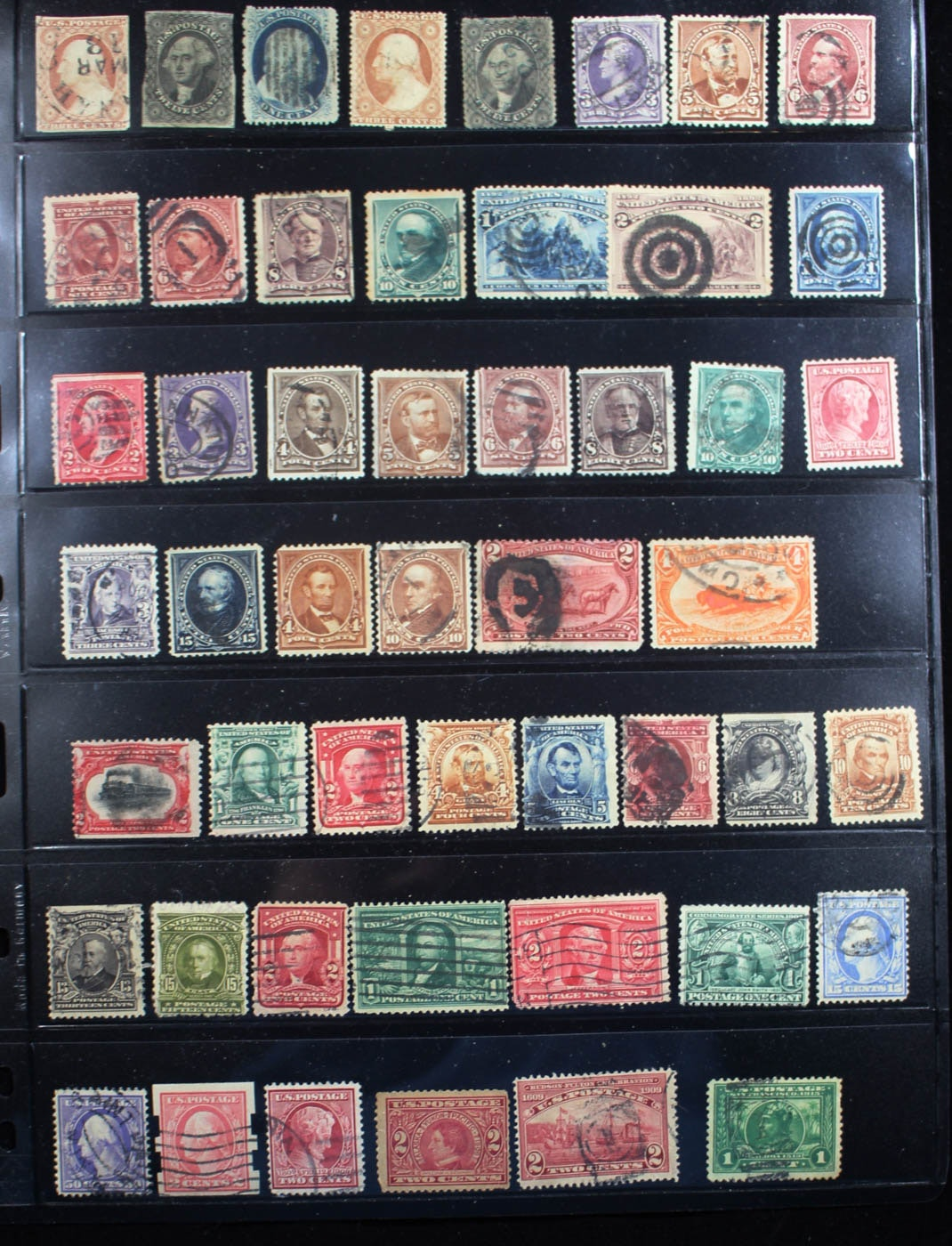 Group of Various Early U.S. Stamps
