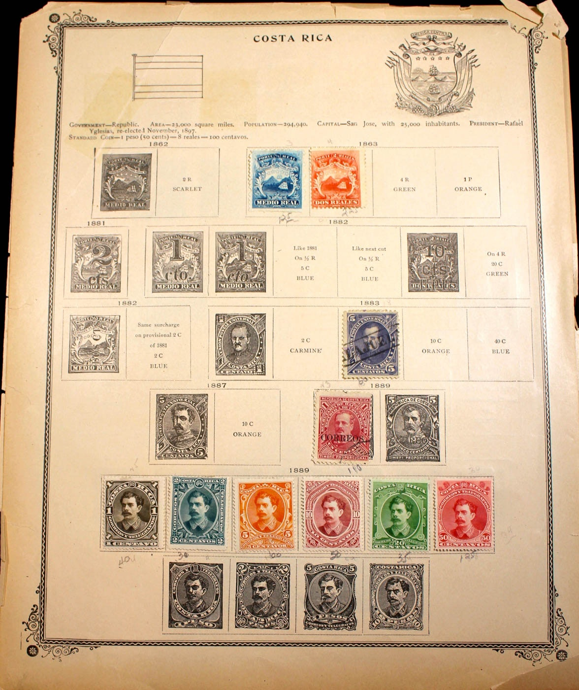 Large Group of Early Foreign Stamps