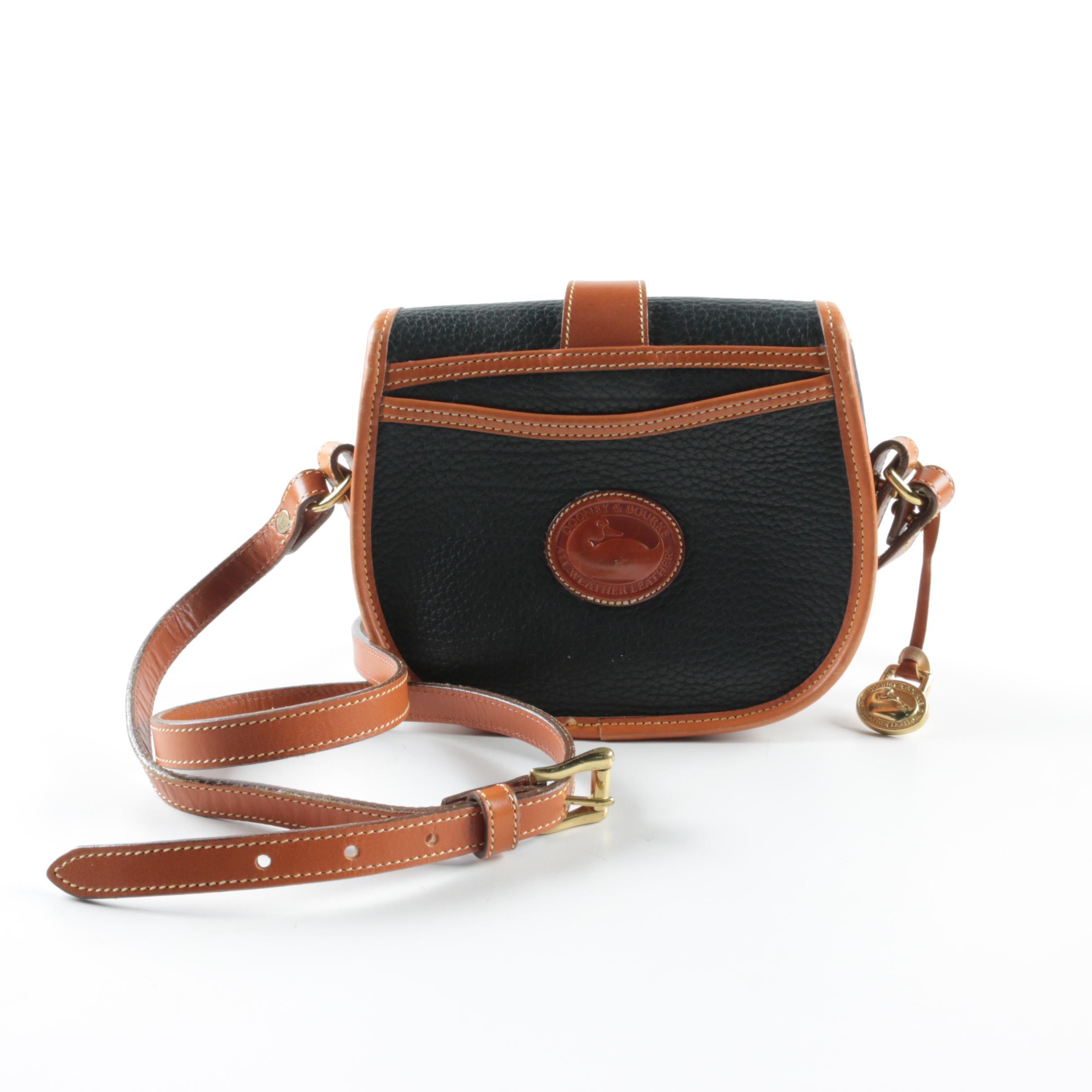 Dooney & Bourke All Weather Leather Saddle Bag
