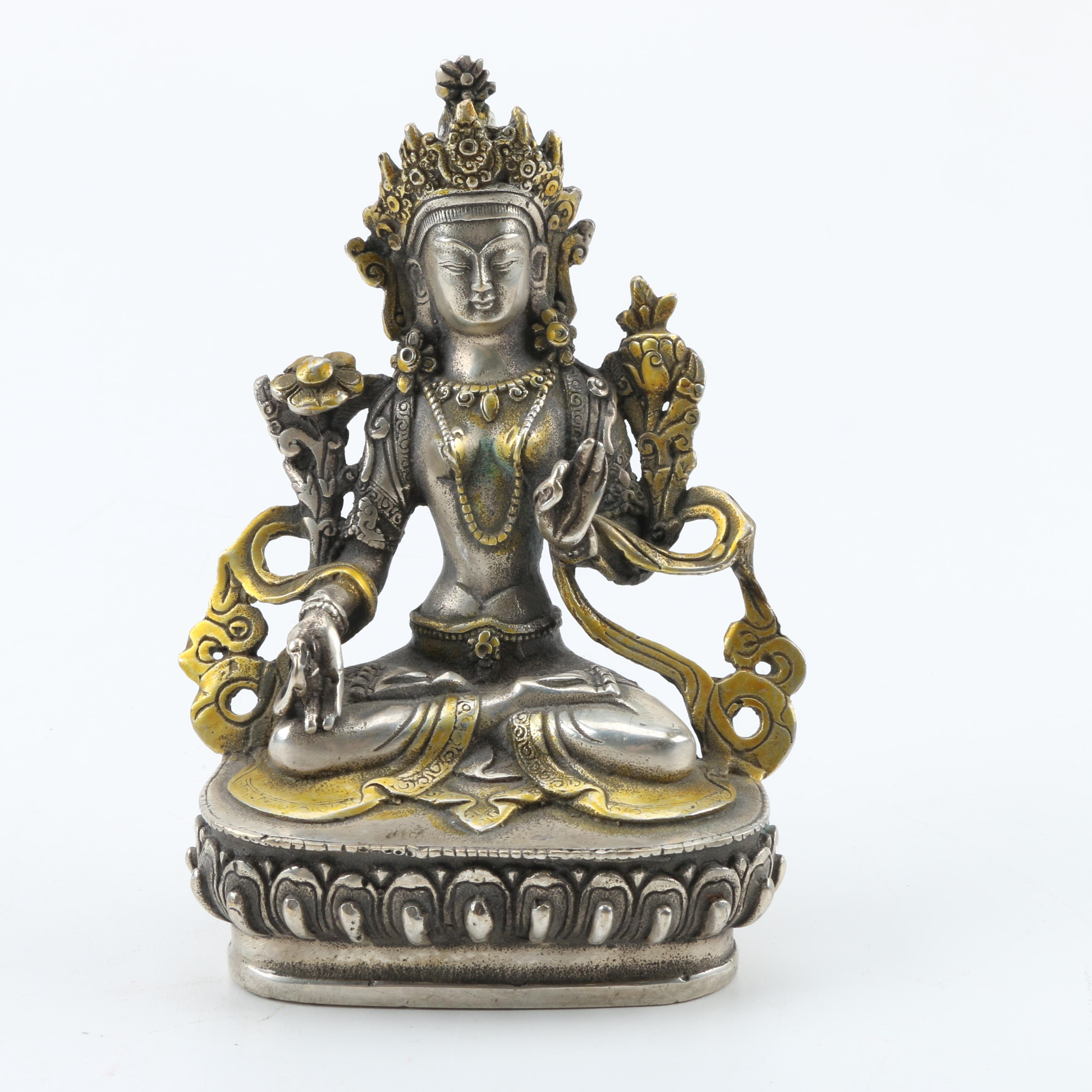 Sino-Tibetan Statue of Green Tara