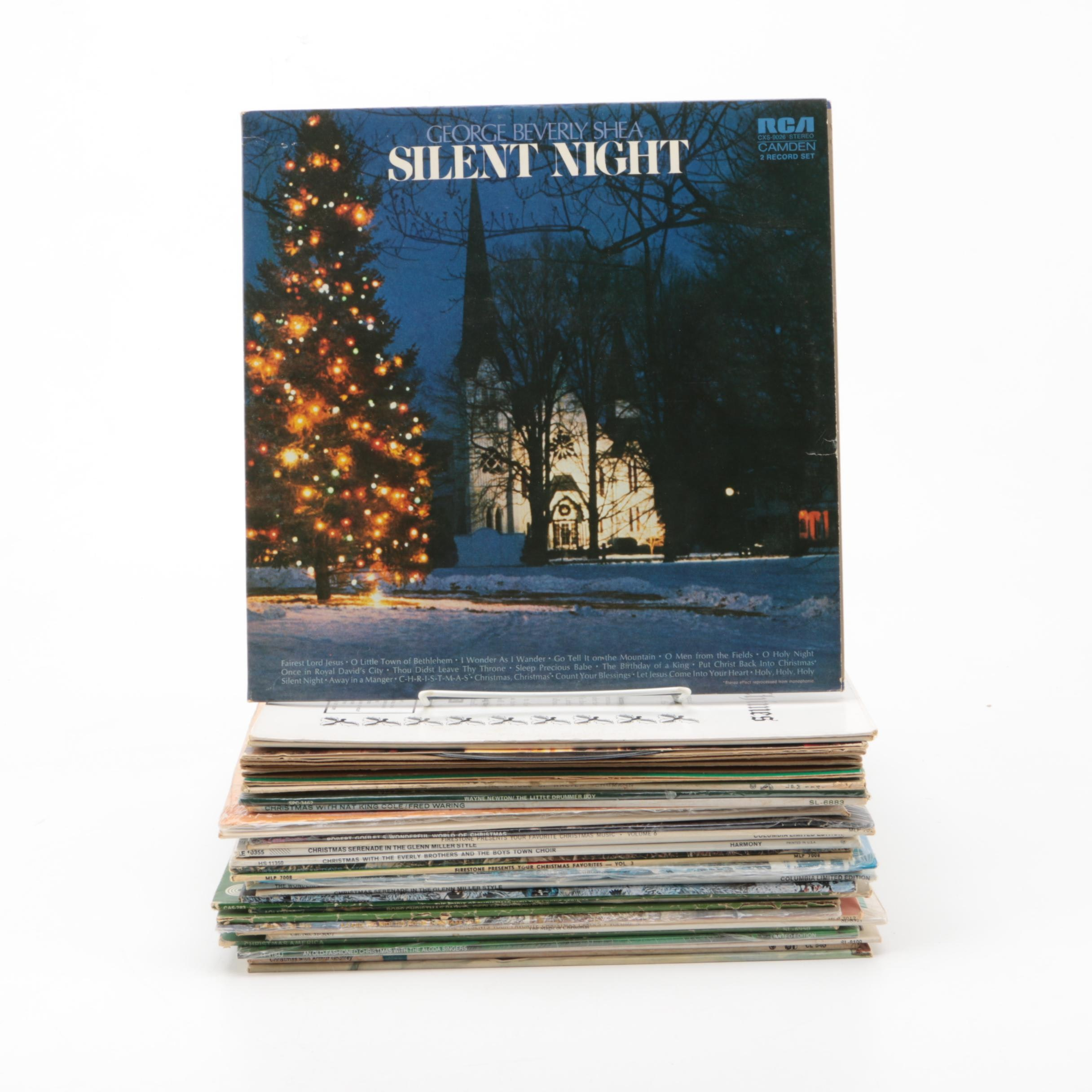 Christmas Records Featuring Johnny Mathis and Nat King Cole