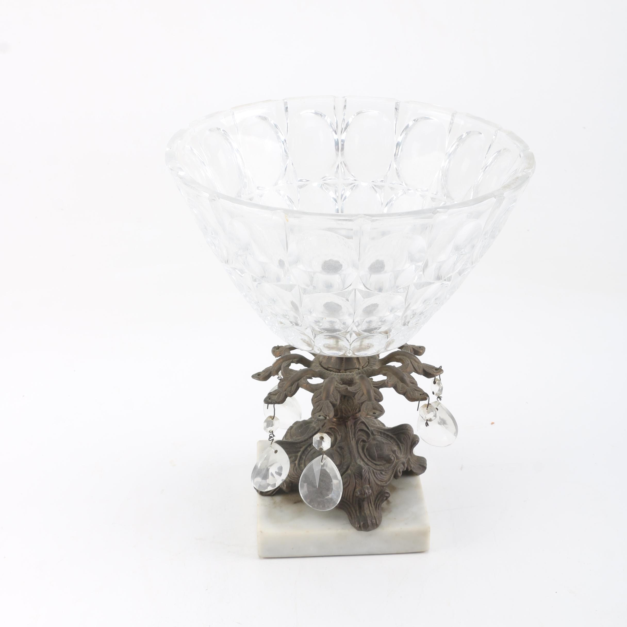 Crystal and Brass Bowl