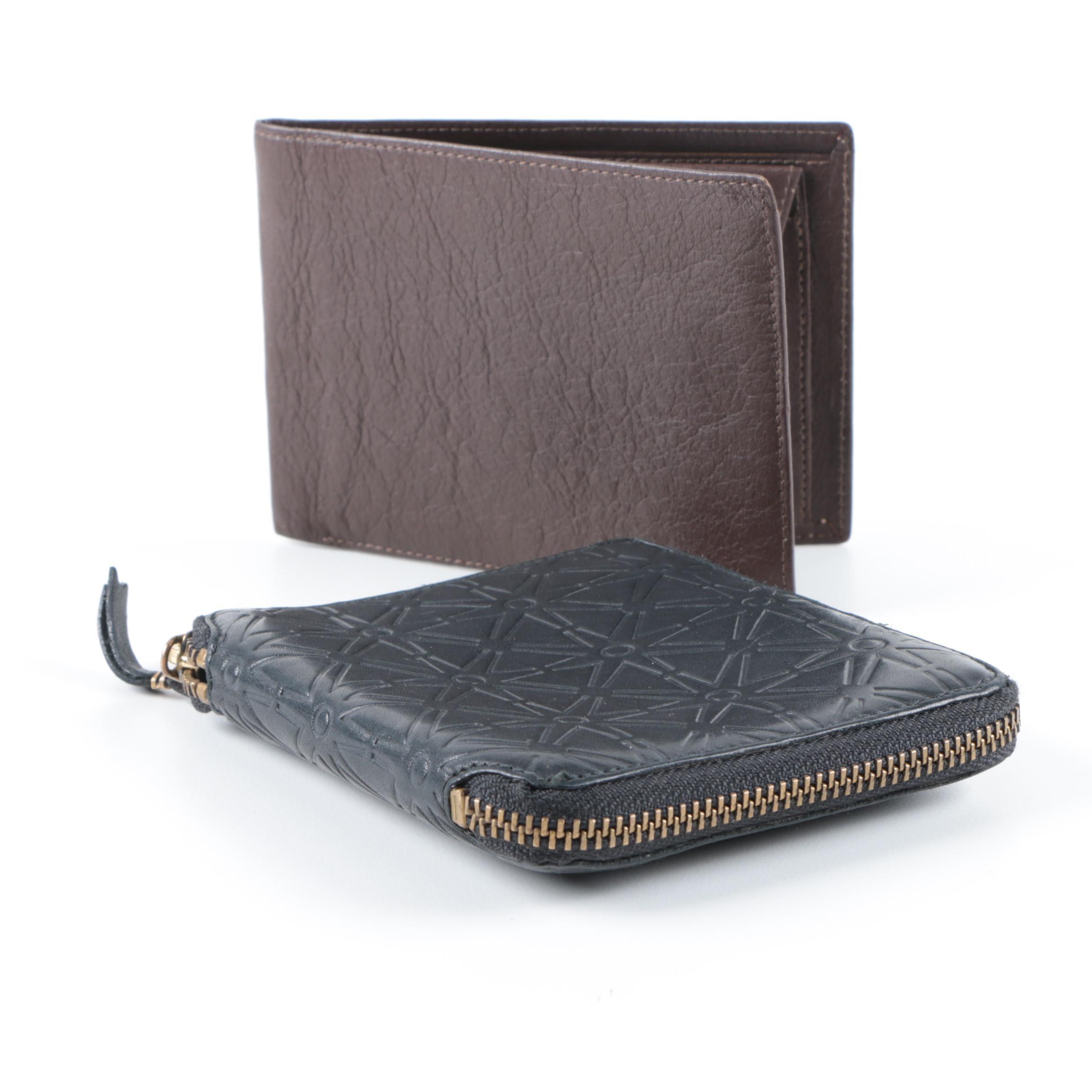 Zippered Wallet and Billfold Including Comme des Garçons
