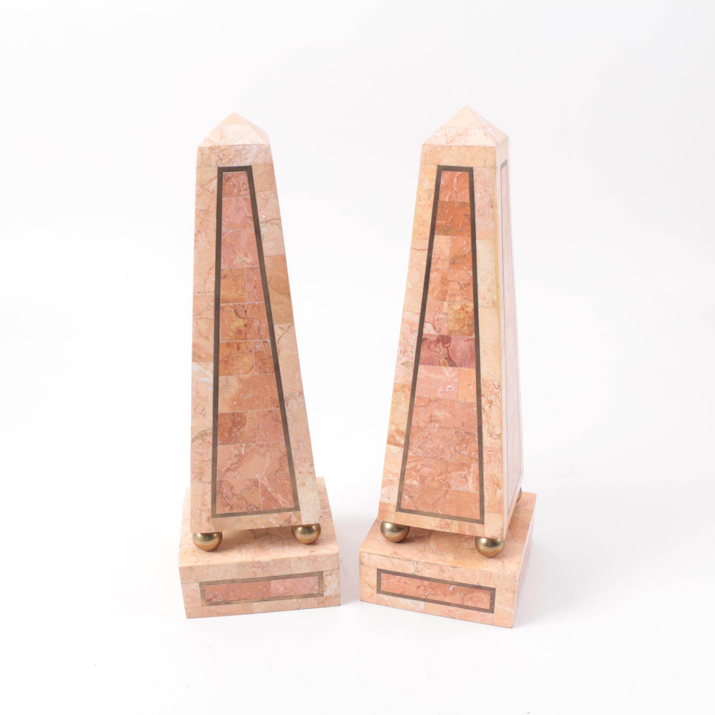 Marble Veneered Obelisks