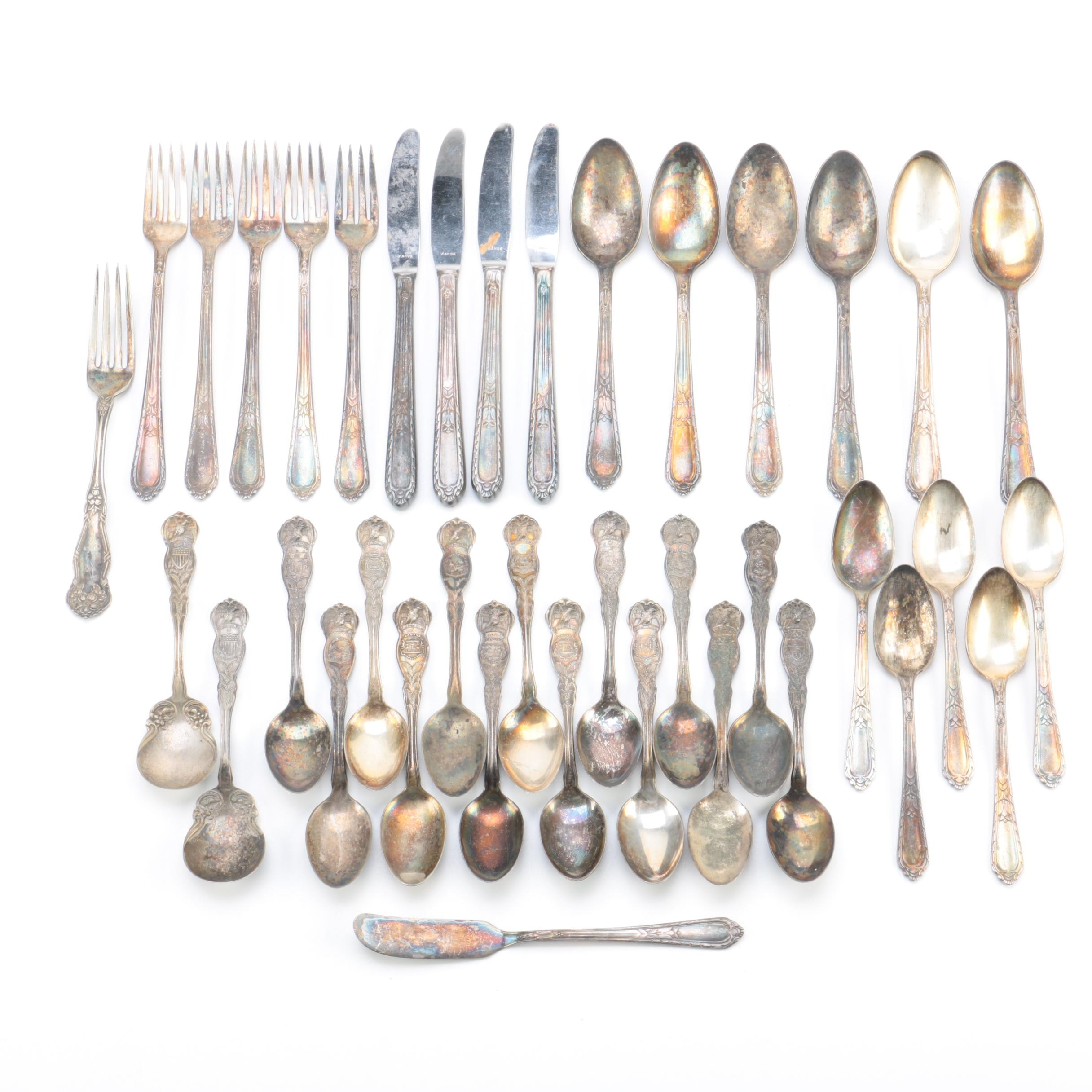 "Holmes & Edwards ""Masterpiece"" and Other Silver-Plated Flatware"