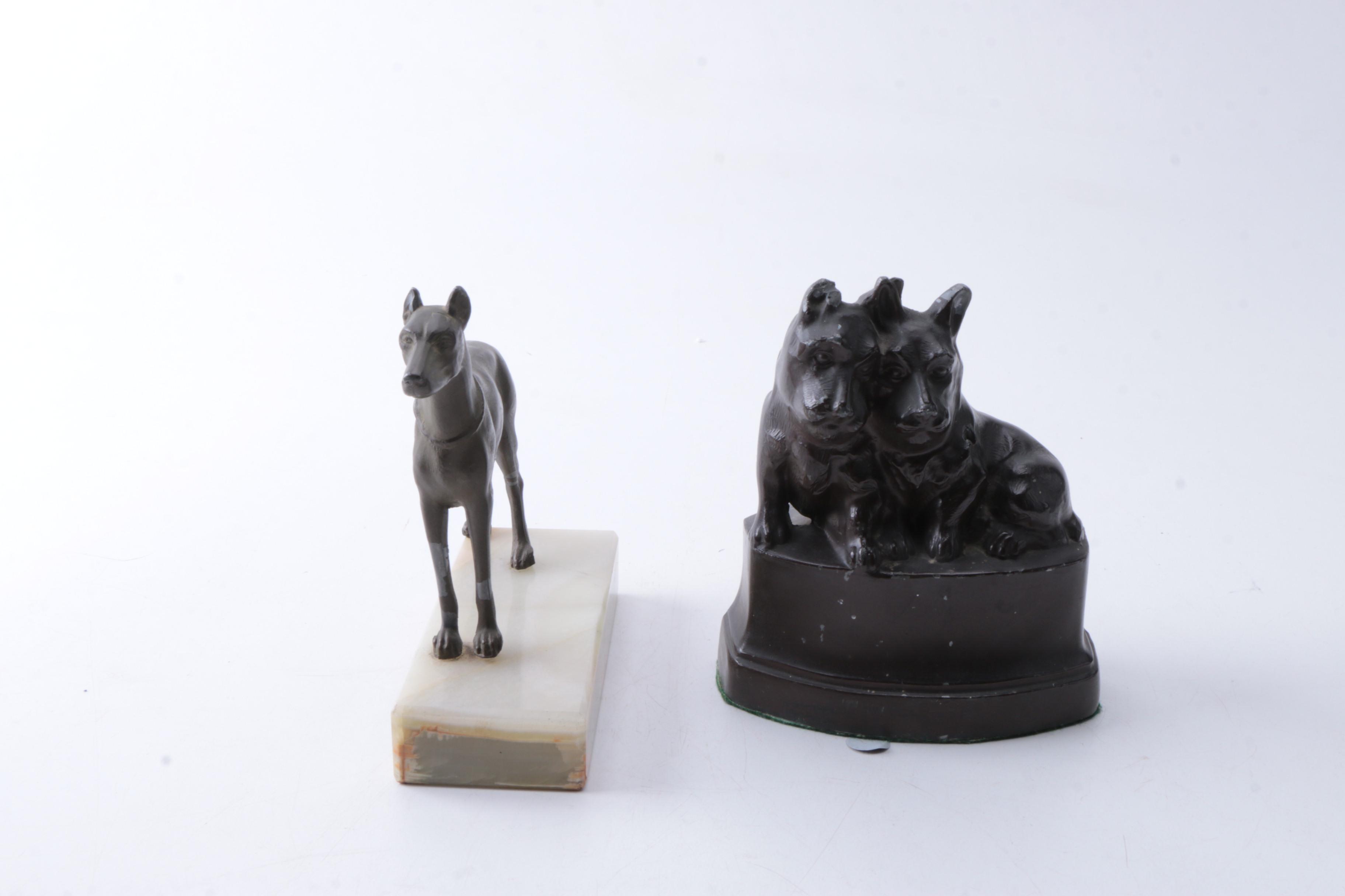 Metal Dog Figurines