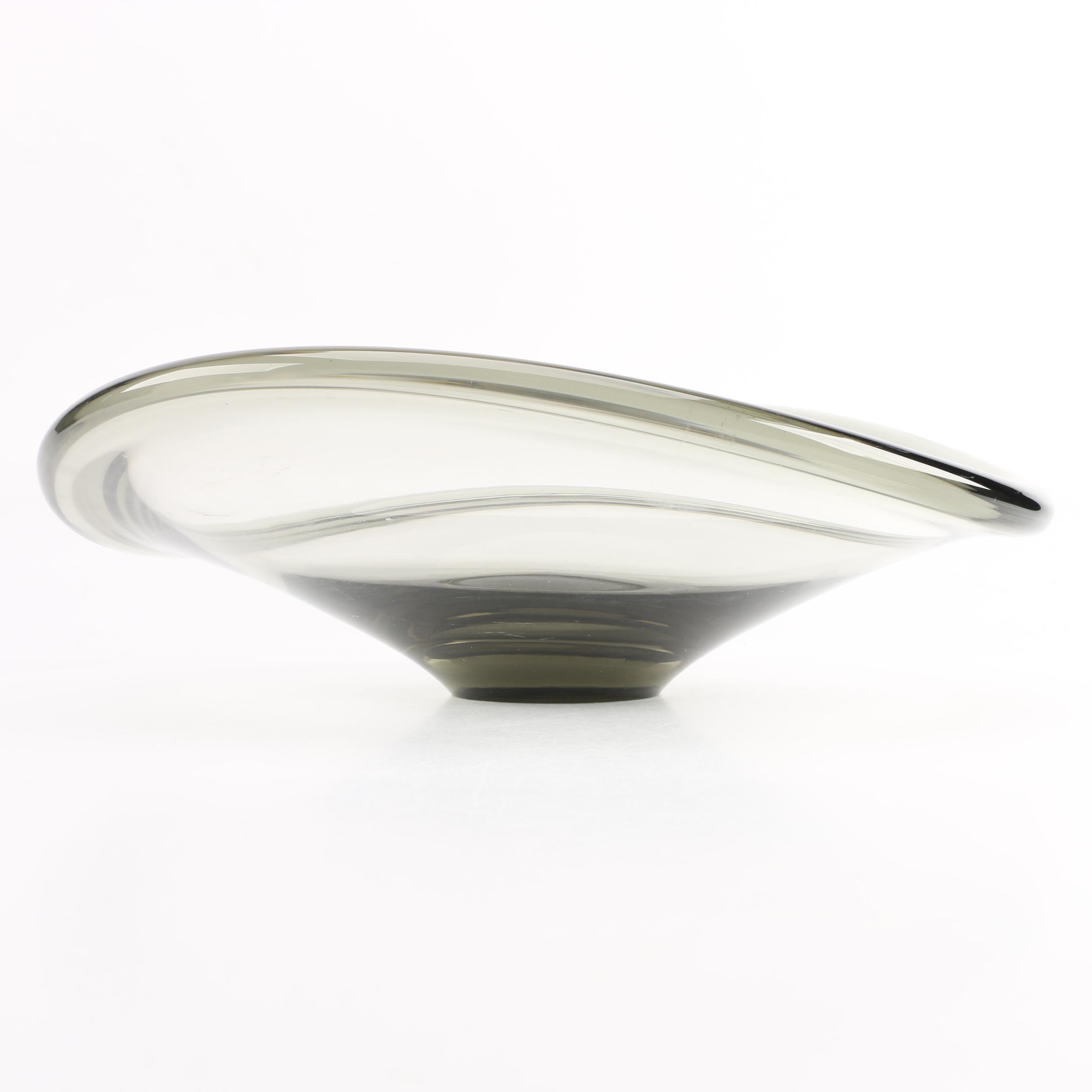 "Mid Century Per Lütkin ""Selandia"" Art Glass Bowl"