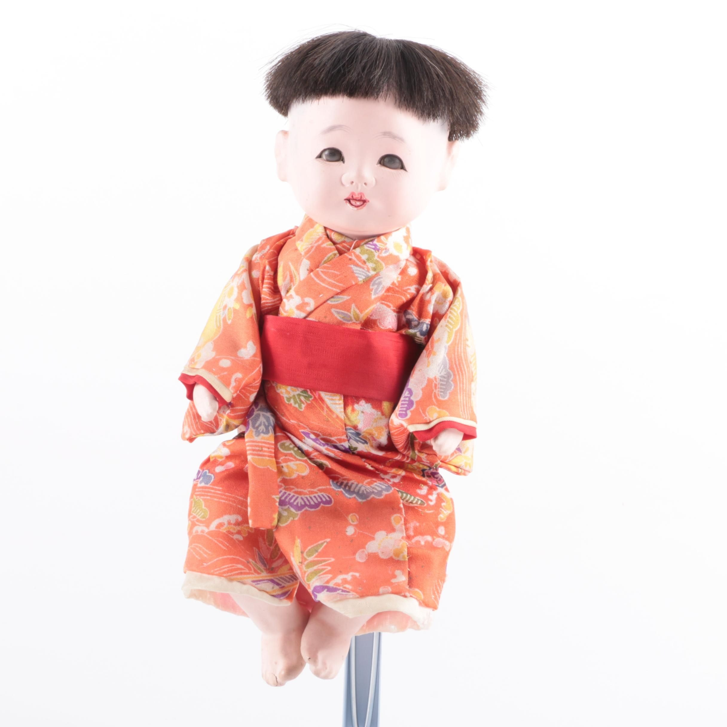 Vintage Japanese Gofun Composition Doll