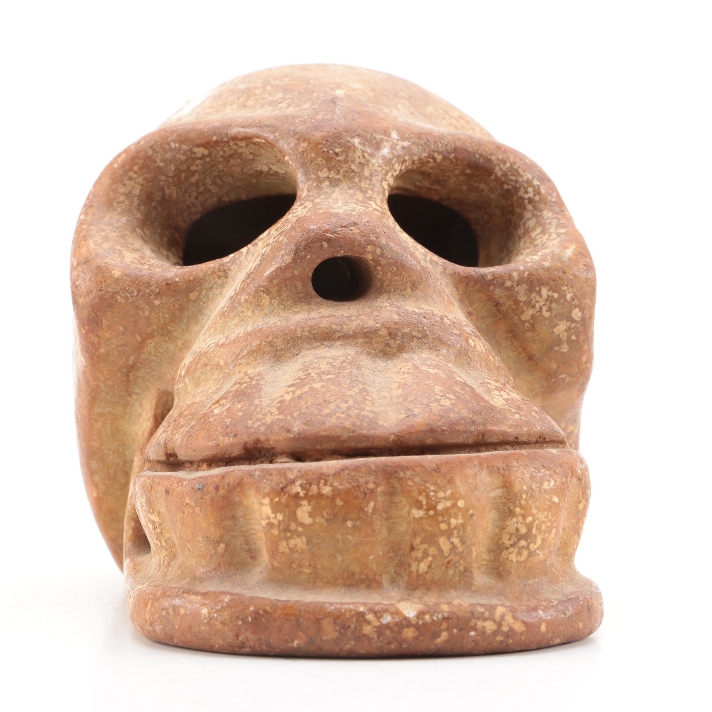 Carved Soapstone Skull