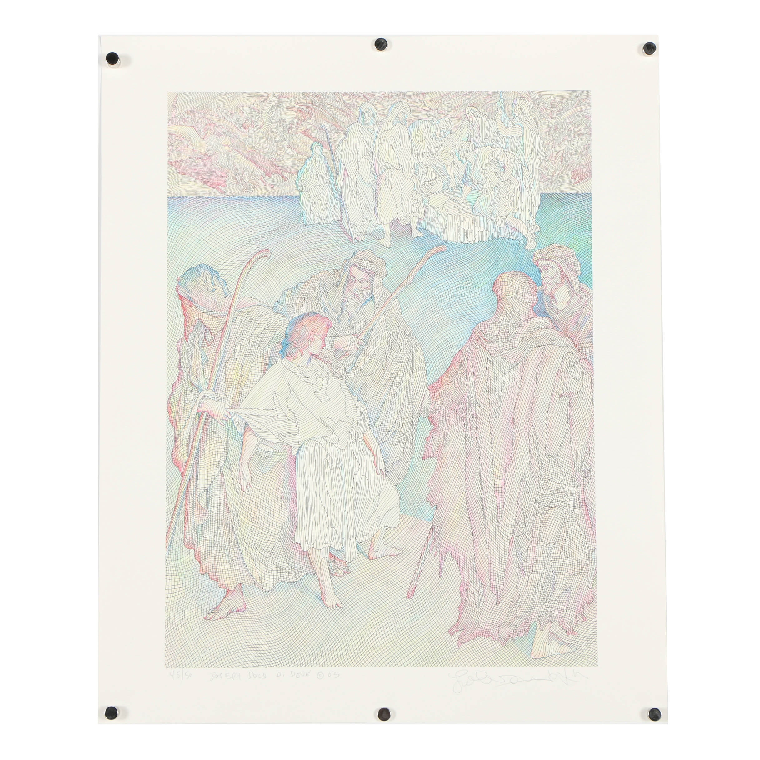"""Guillaume Azoulay Giclee """"Joseph Sold D. Dore"""""""