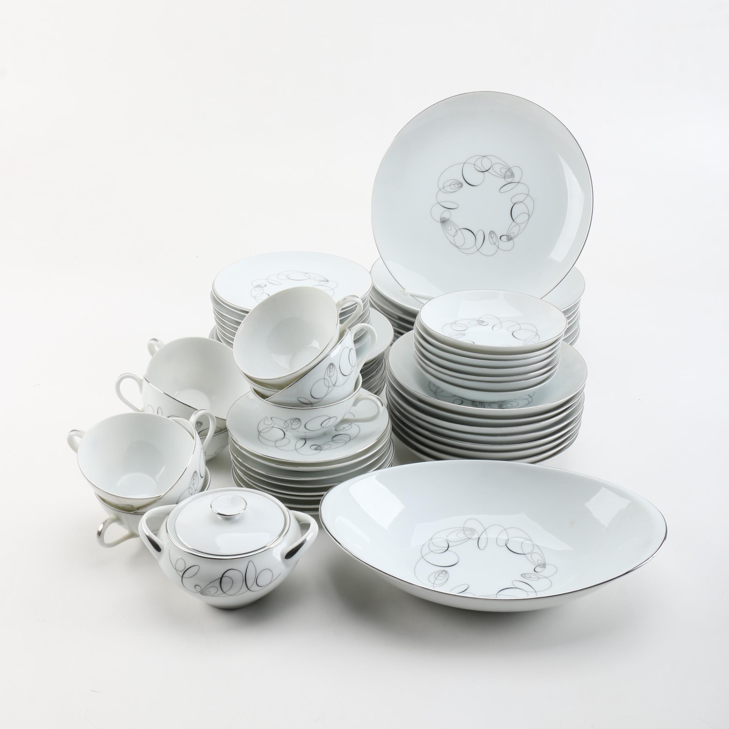 "Mid-Century Meito ""Tempo"" Porcelain Tableware"