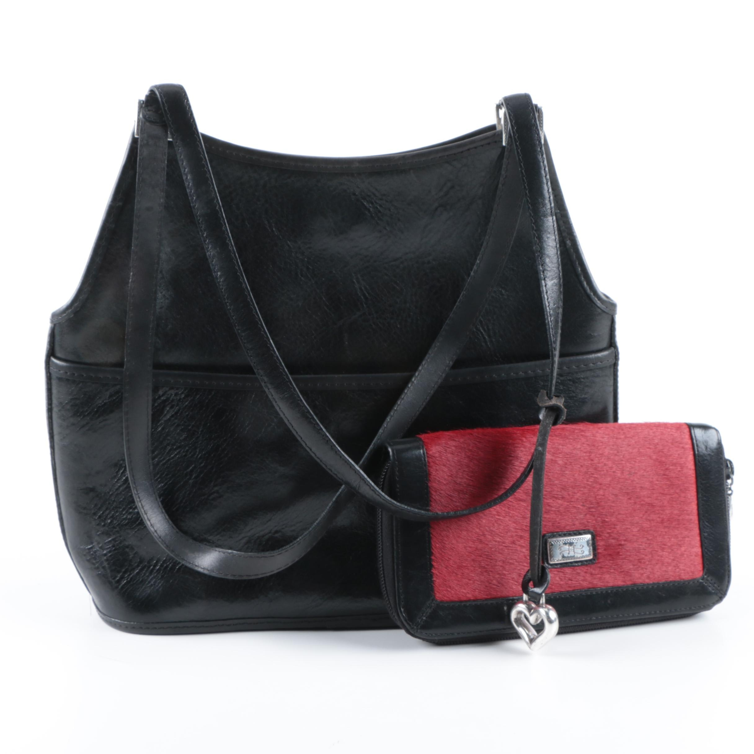 Brighton Cowhide Handbag and Wallet