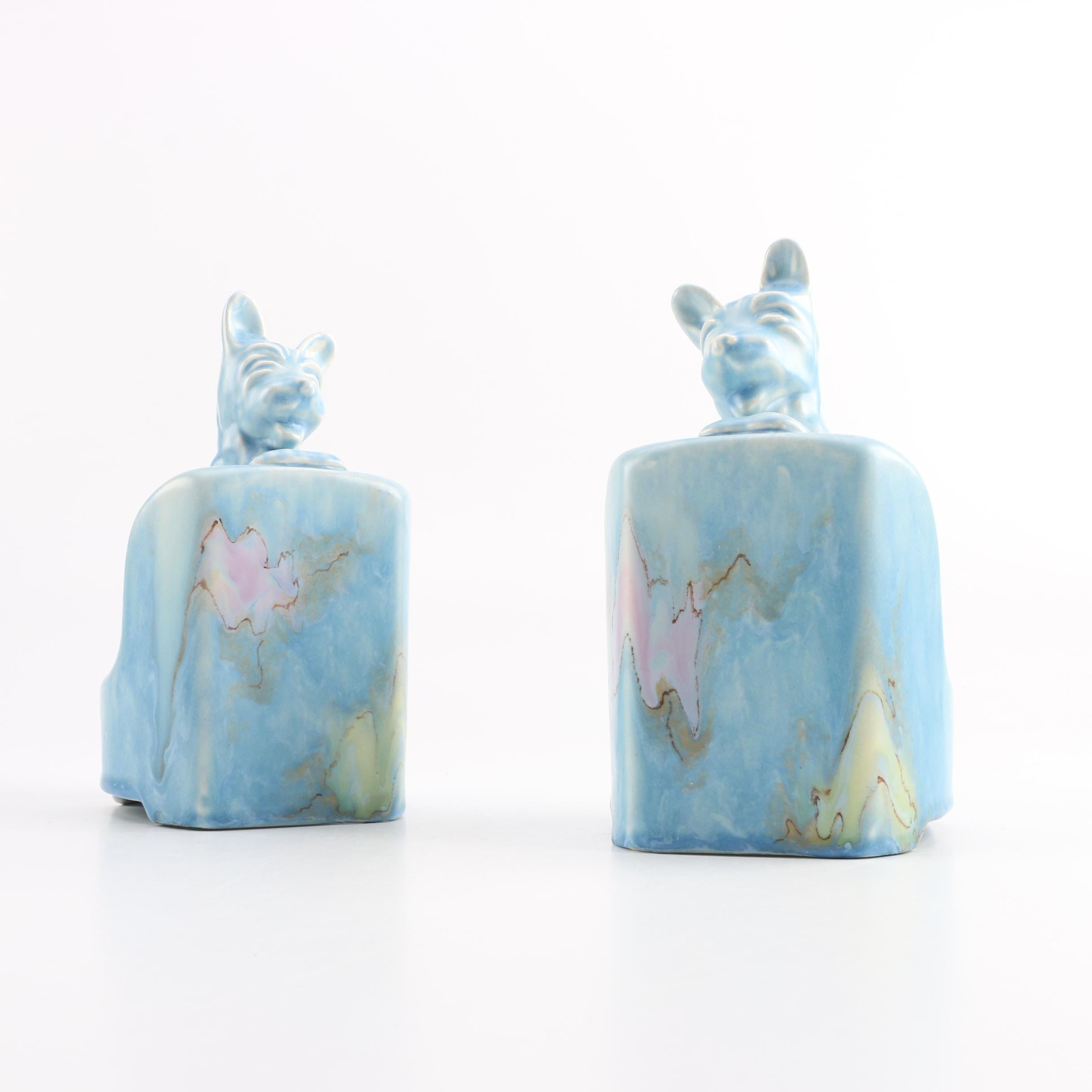 Vintage Beswick Pottery Blue Scottish Terrier Bookends