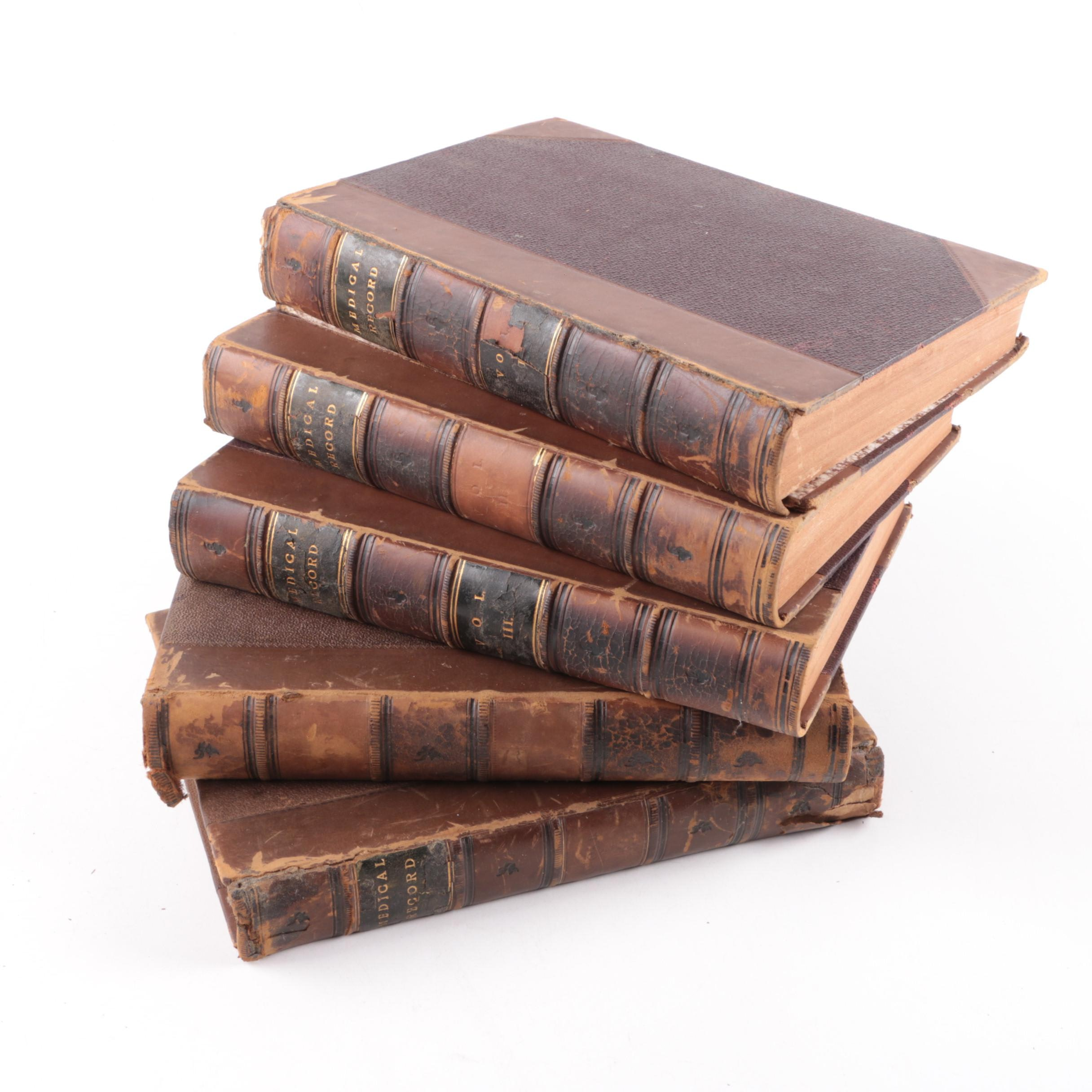 "1866–1872 ""The Medical Record"" Bound Volumes"