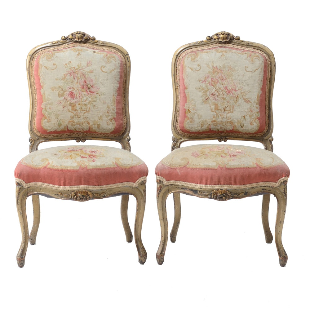 Louis XV Style Upholstered Chairs