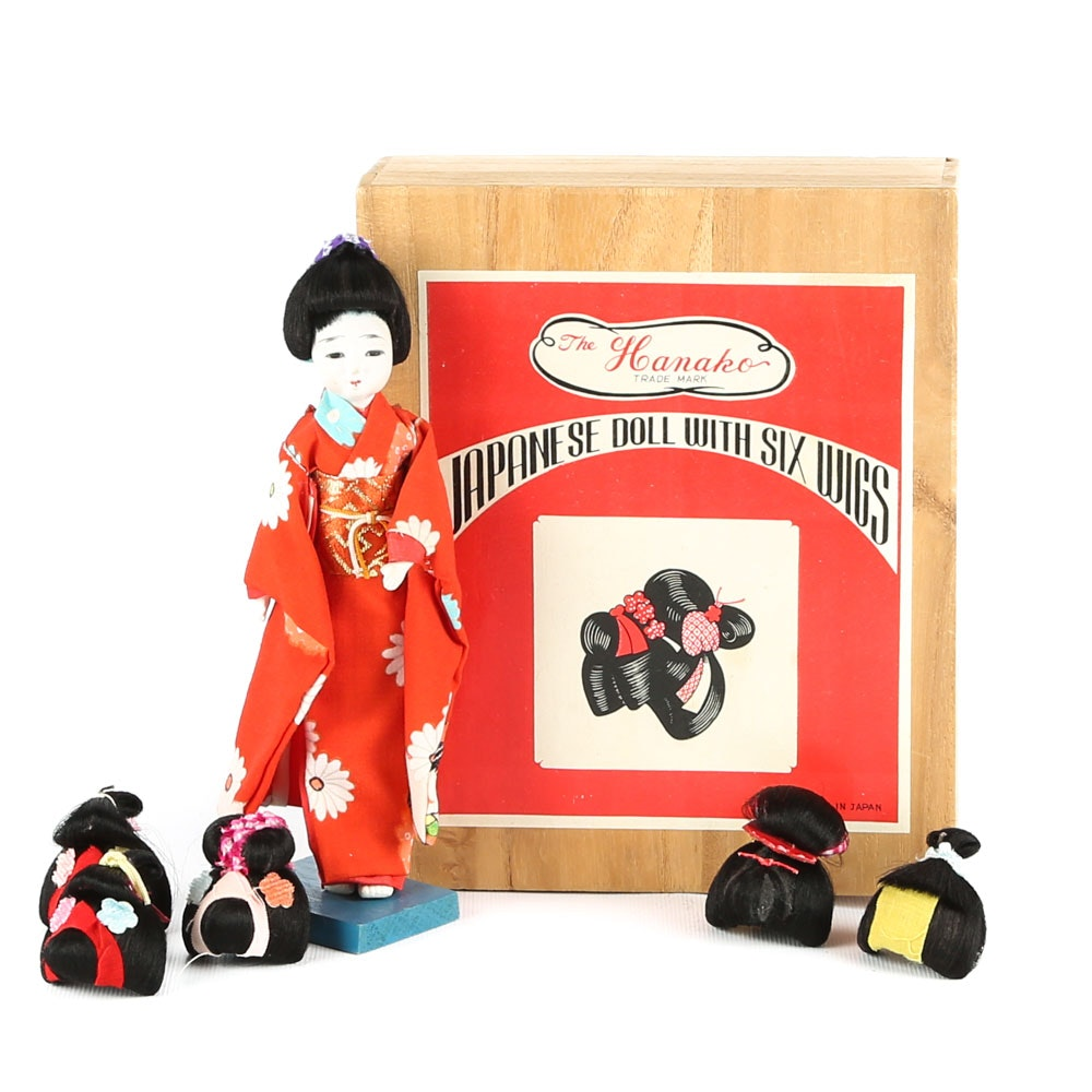 The Hanoako Japanese Doll with Six Wigs