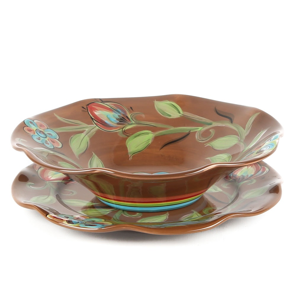 Gail Pittman for Southern Living Salad Bowl and Platter