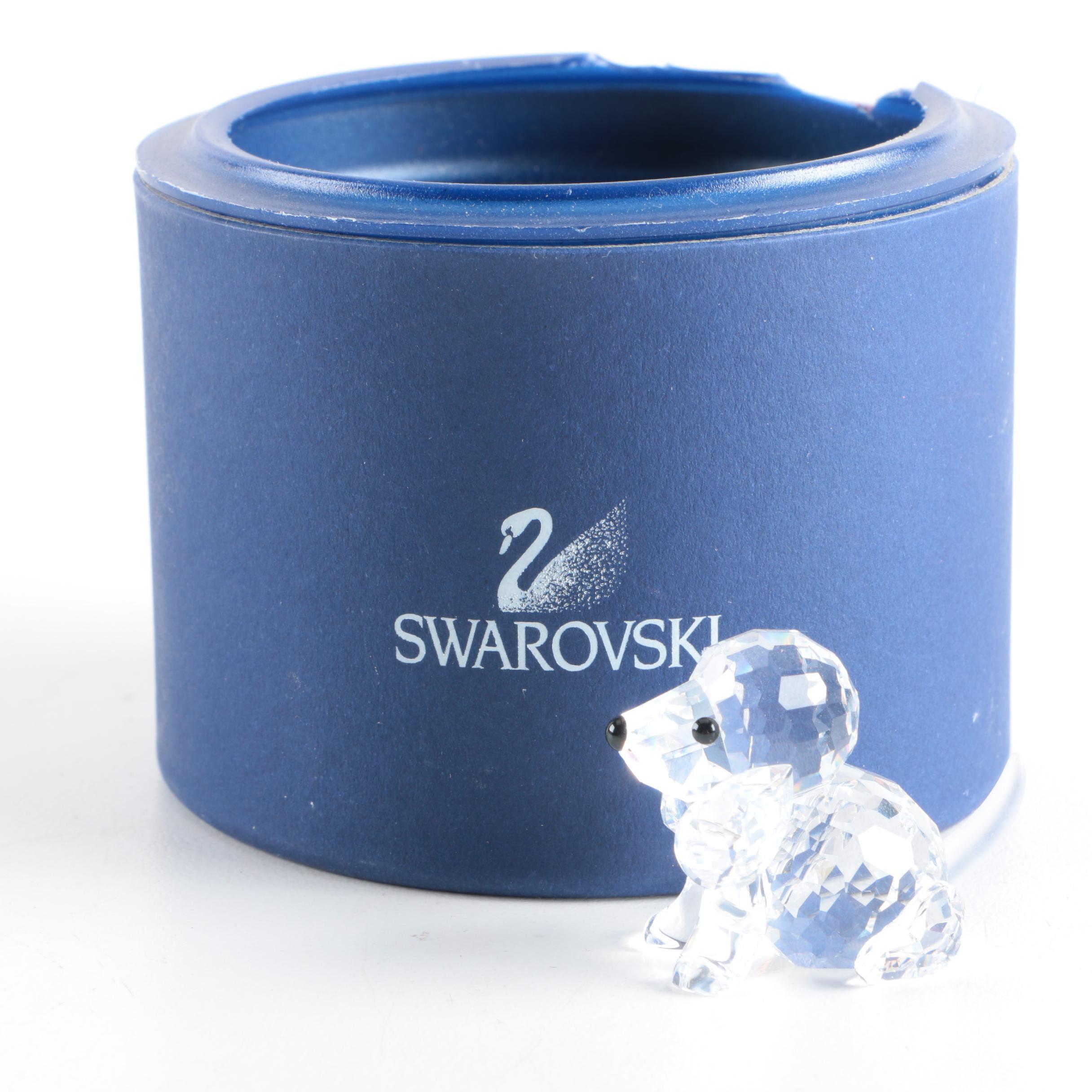 "Swarovski Crystal ""Sitting Beagle"" Figurine"