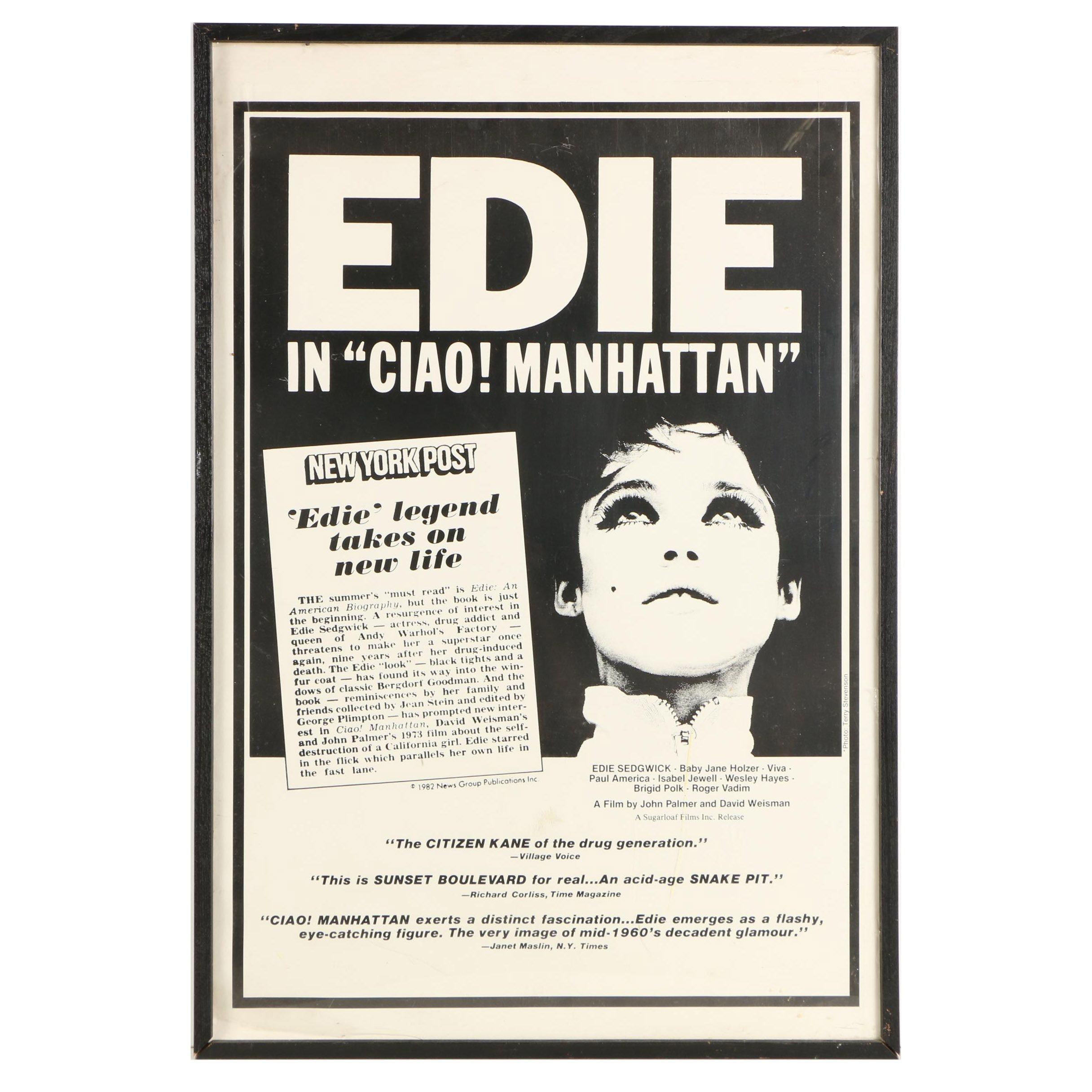"Halftone Film Poster for ""Ciao! Manhattan"""
