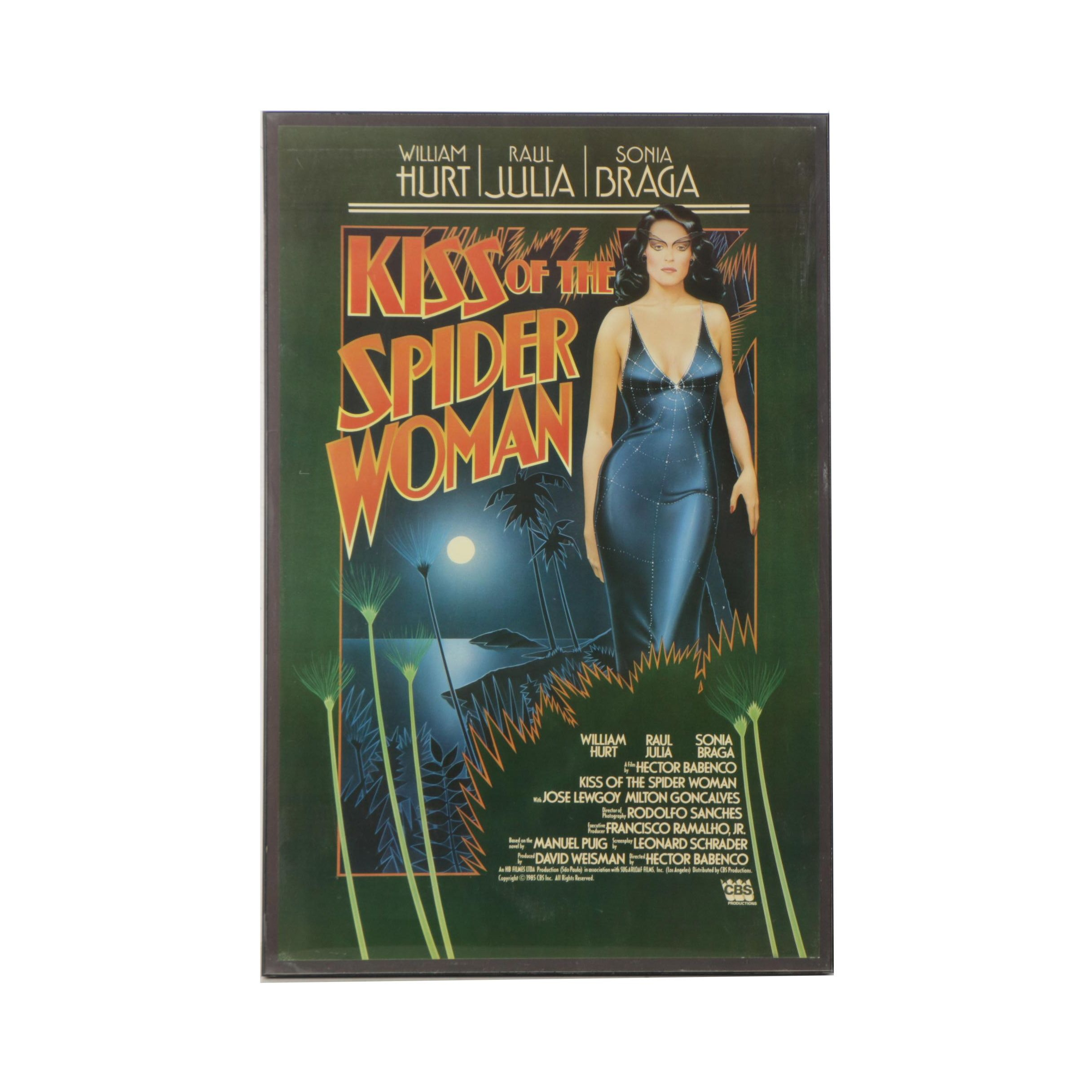 "Offset Lithograph Film Poster for ""Kiss of the Spider Woman"""