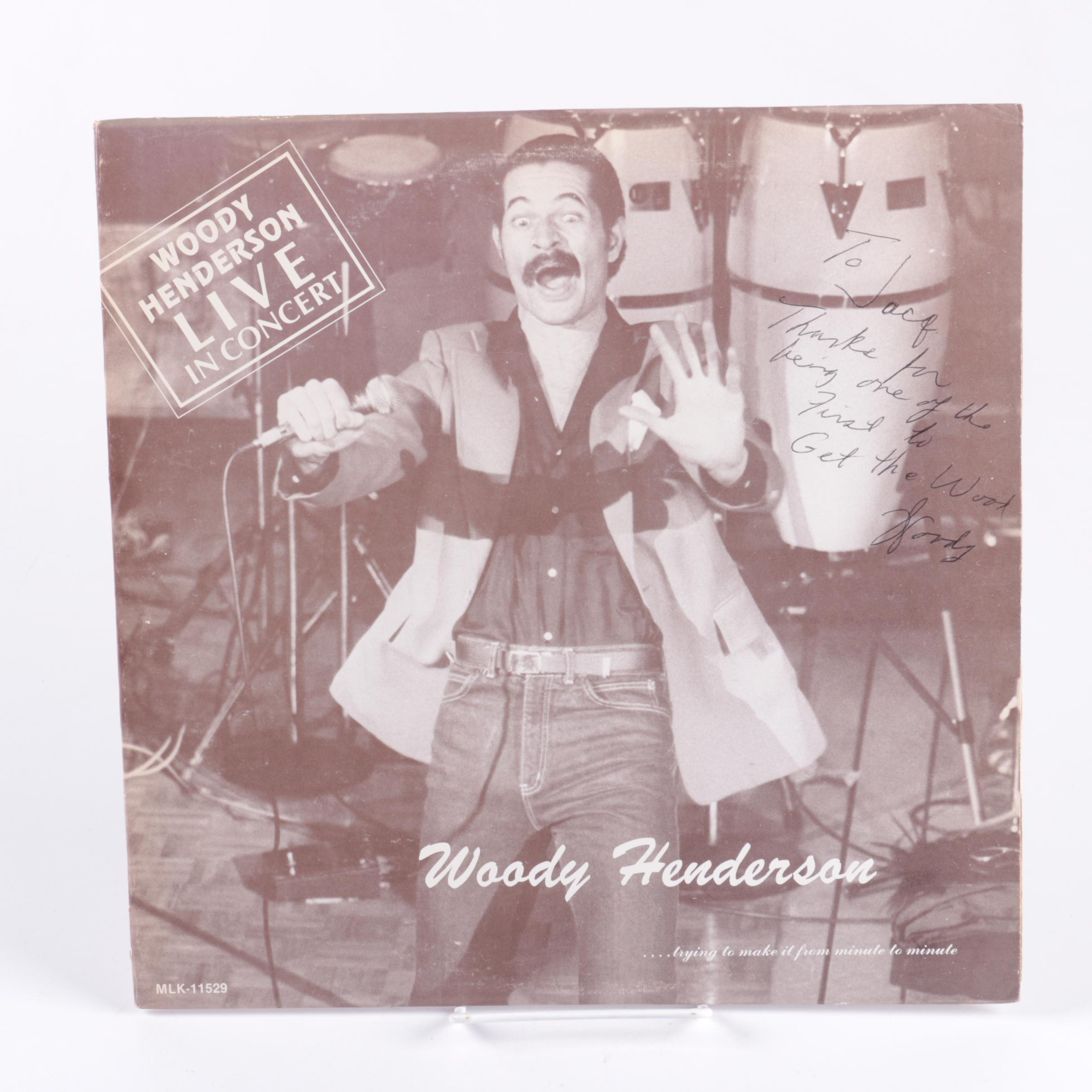 Woody Henderson Signed Record