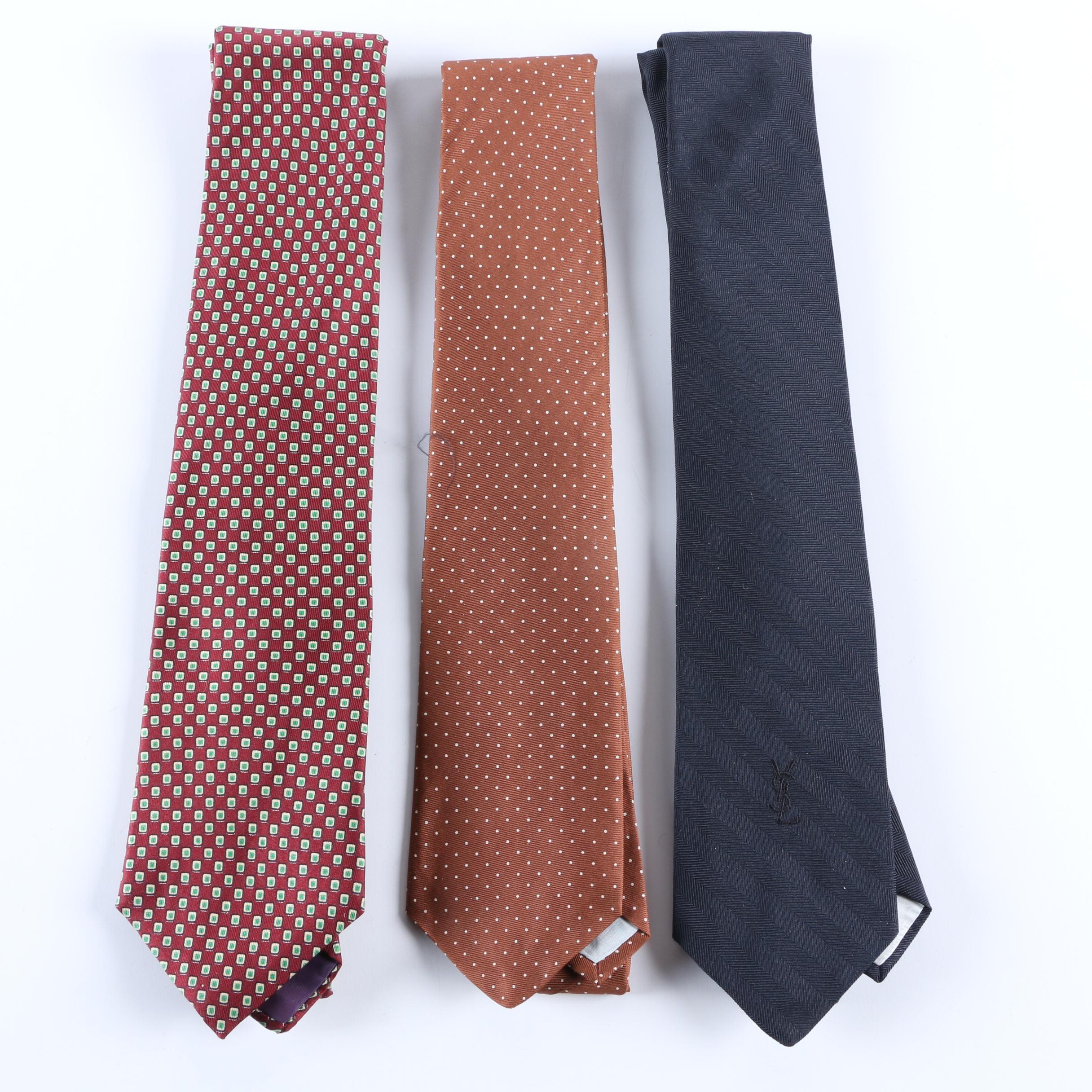 Vintage Yves Saint Laurent Silk Ties