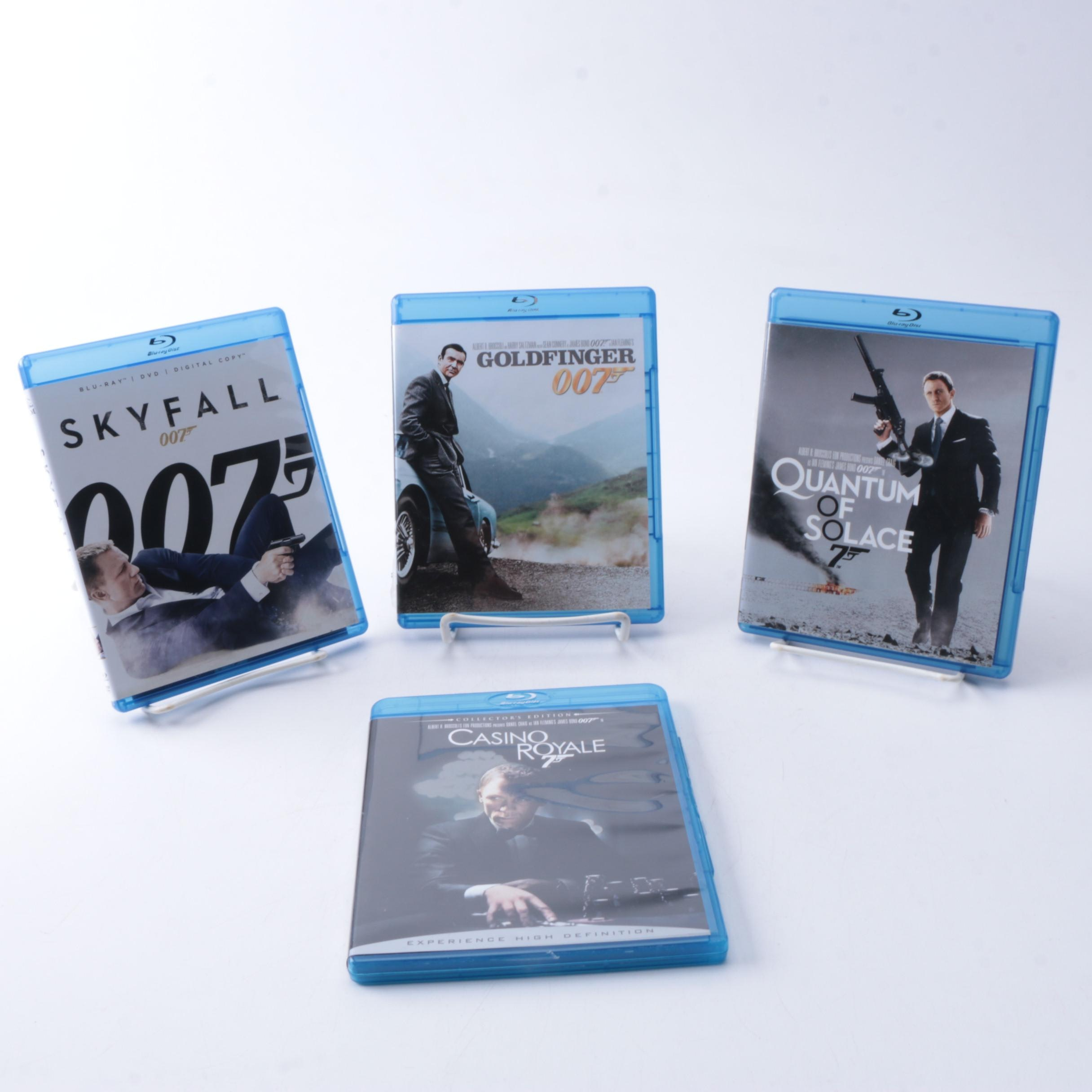 """James Bond Films  on Blu-ray Including """"Skyfall"""" and """"Goldfinger"""""""