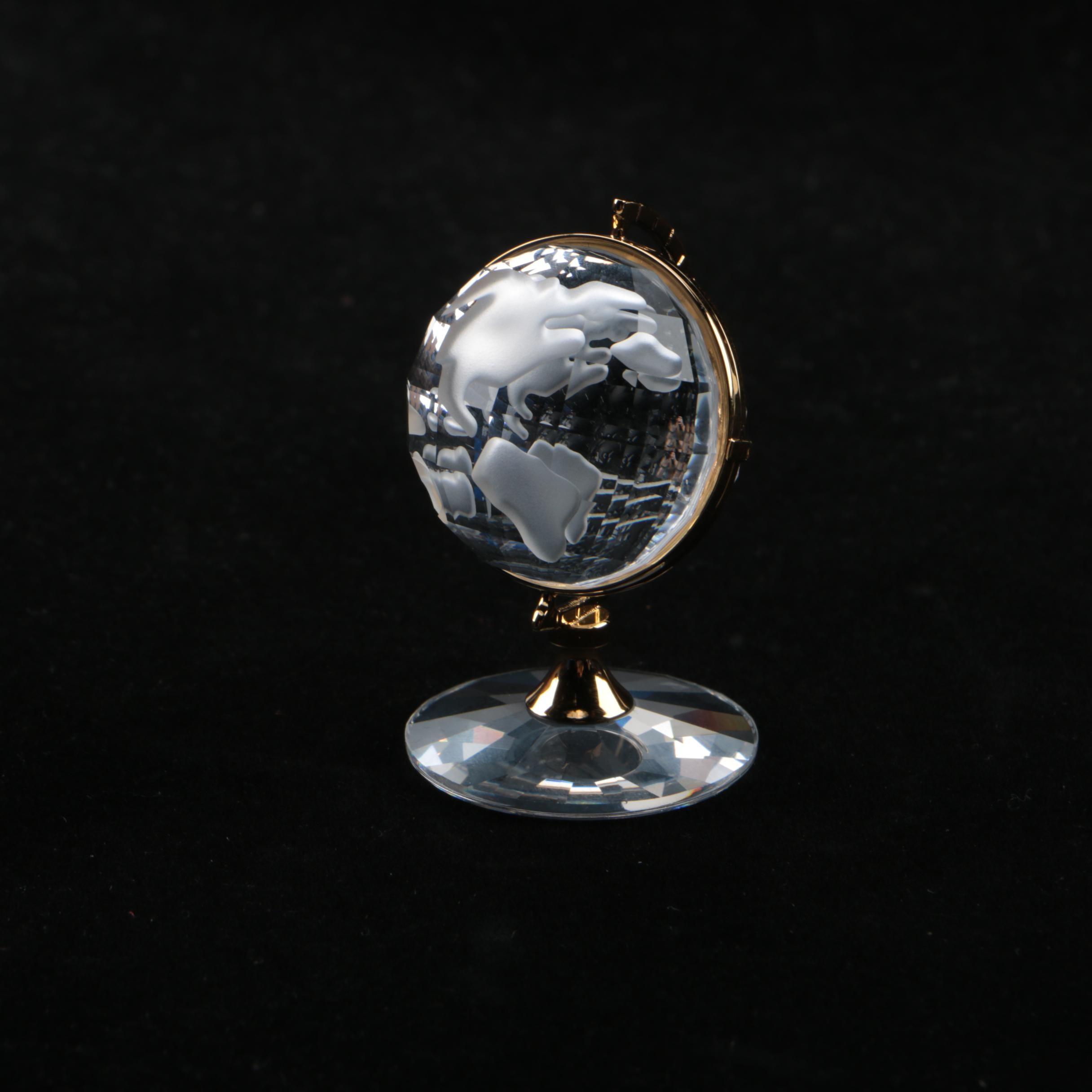 """Swarovski Crystal """"Secrets"""" Globe Figurine"""