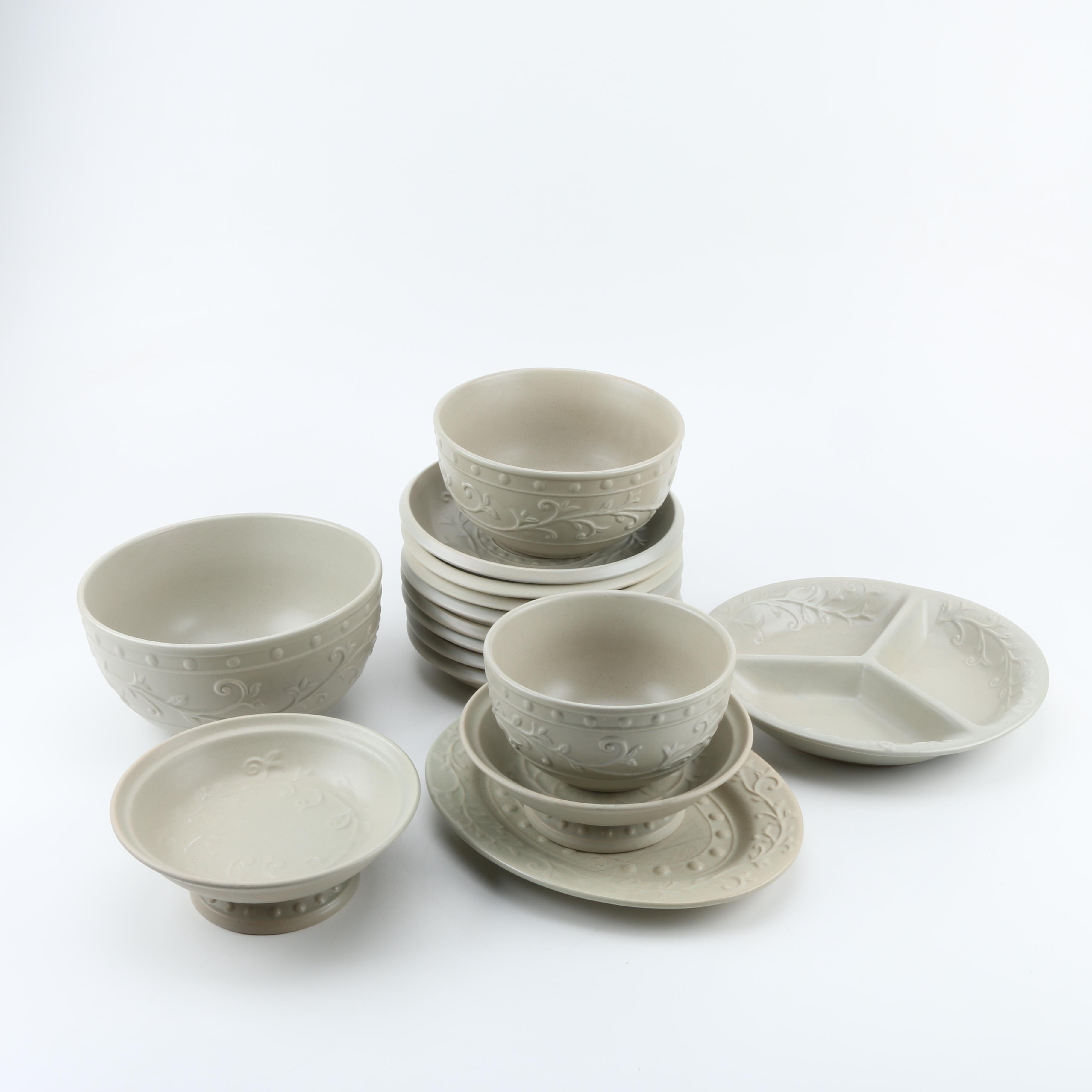Stoneware Tableware and Mixing Bowls