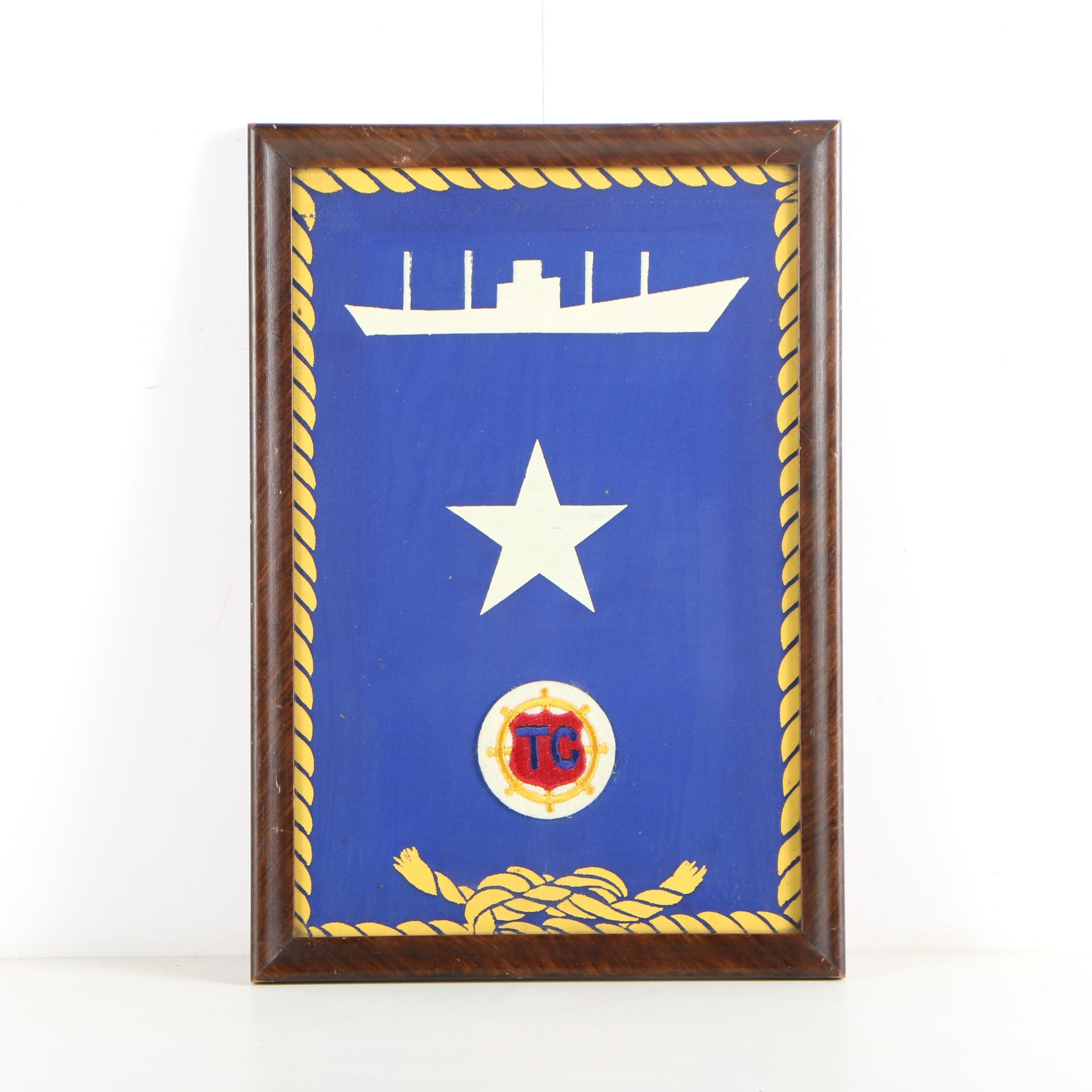 Naval Patch on Stencil Painted Fabric
