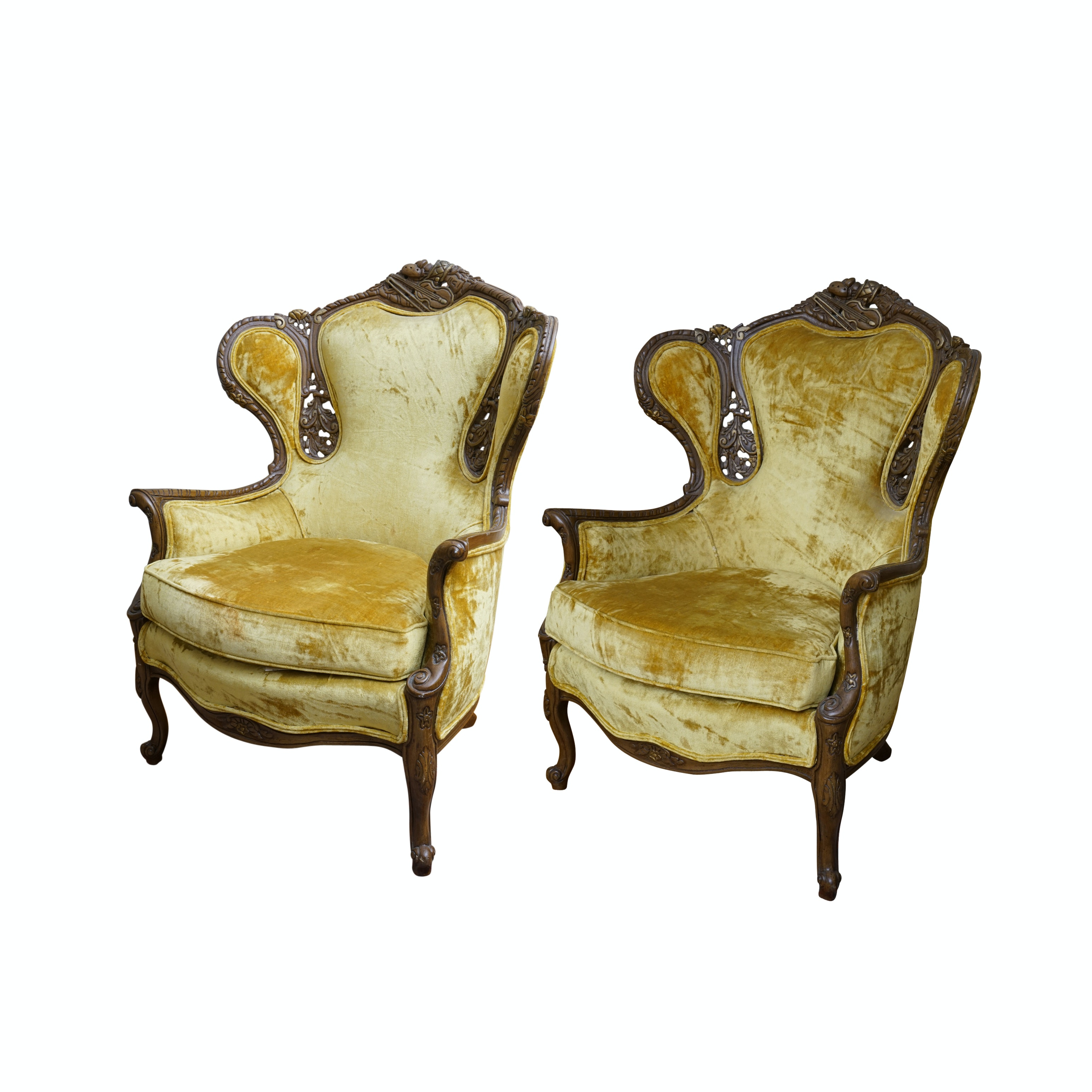 Vintage Rococo Style Arm Chair