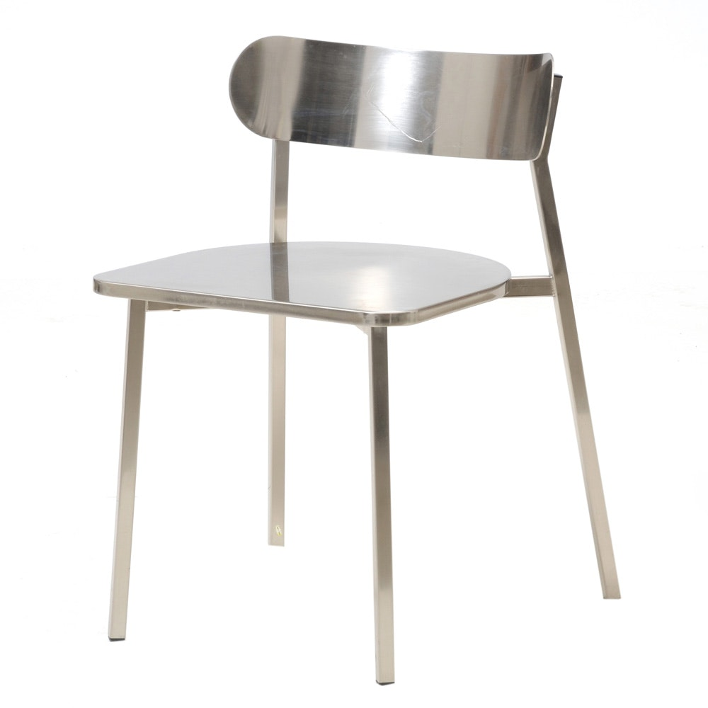Modern Style Stainless Steel Side Chair