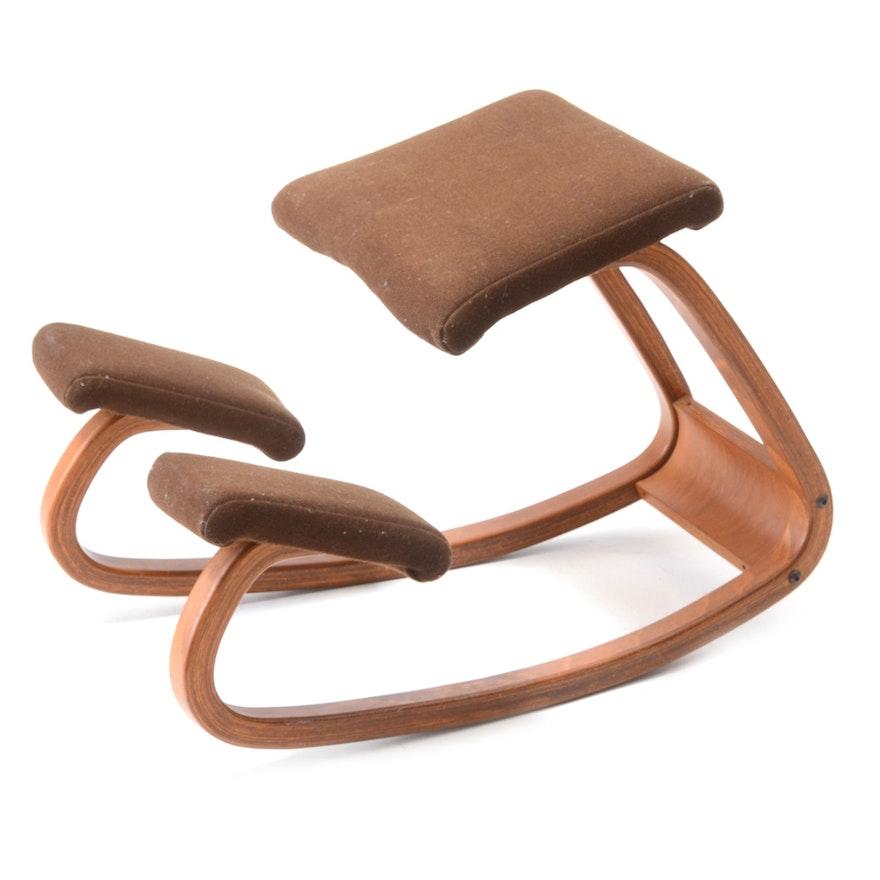 "Danish Modern ""Balans Variable"" Kneeling Chair By Peter"