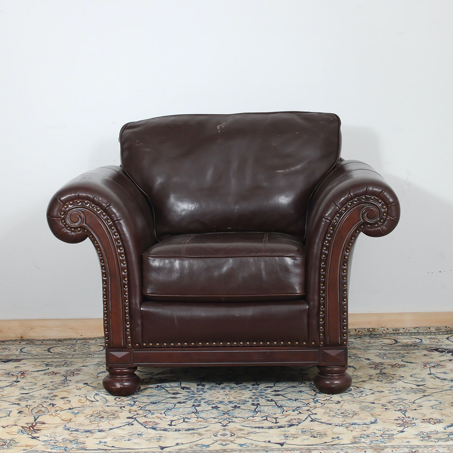 Contemporary Bonded Leather Armchair