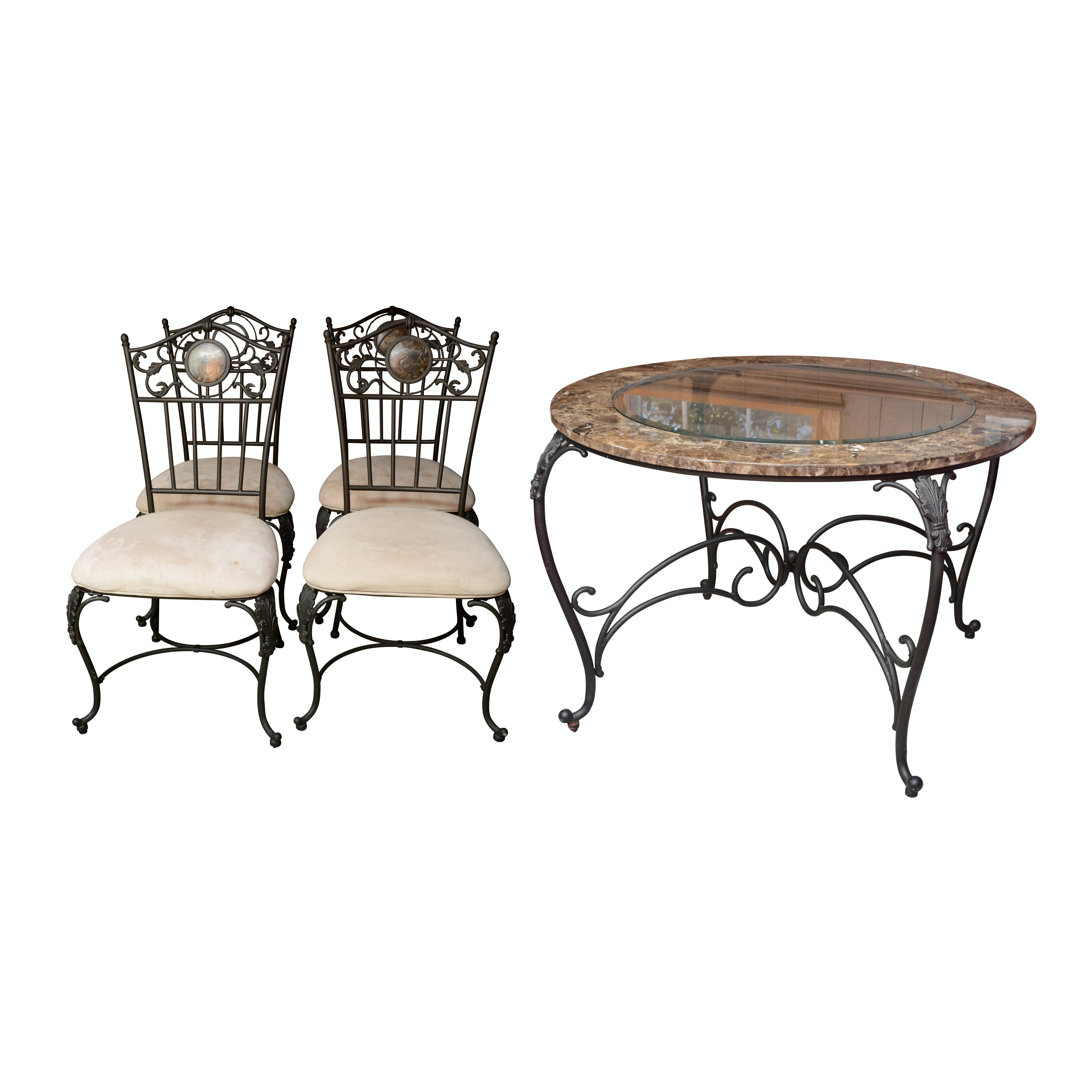 French Provincial Style Occasional Table with Chairs