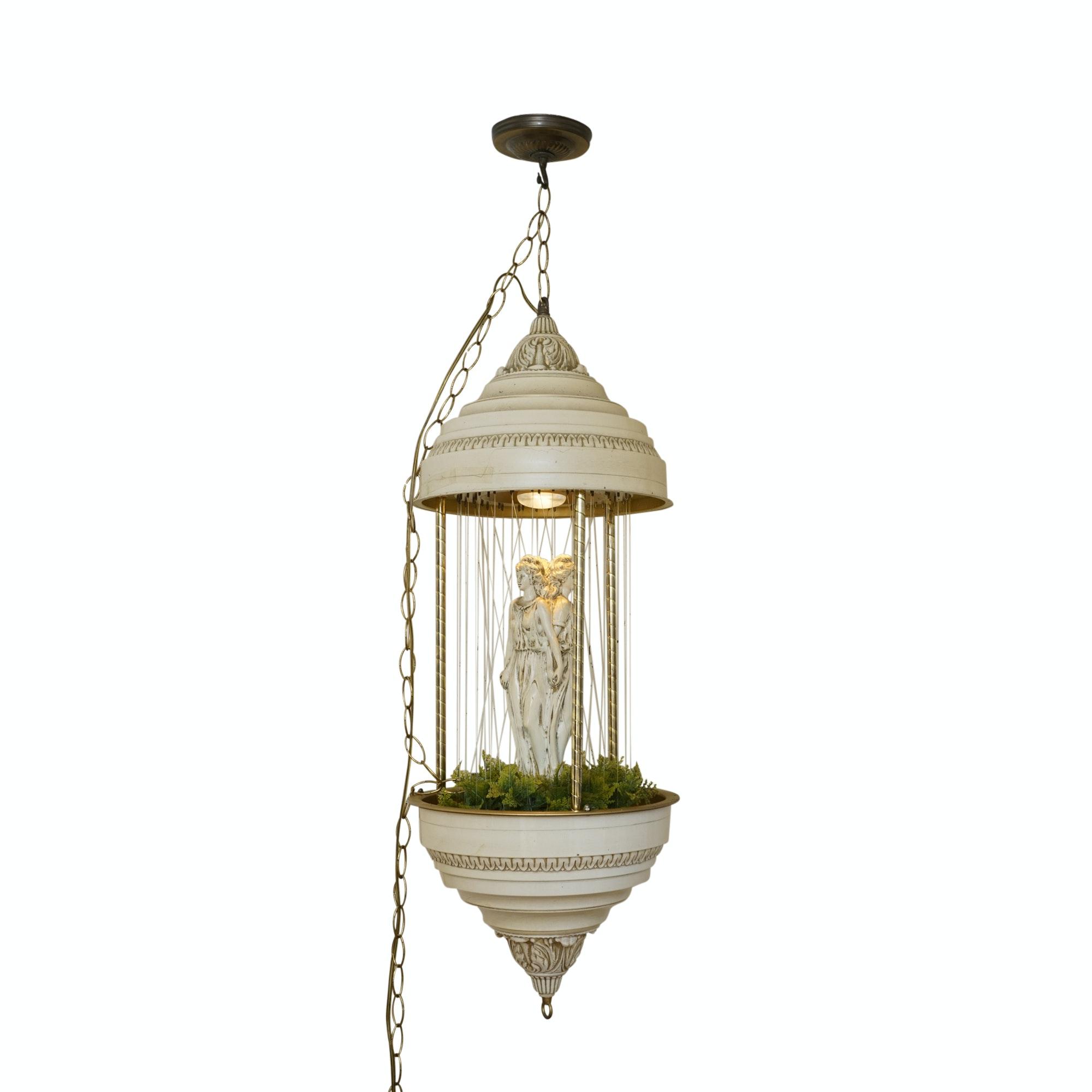 Vintage Oil Rain Lamp Featuring the Three Graces