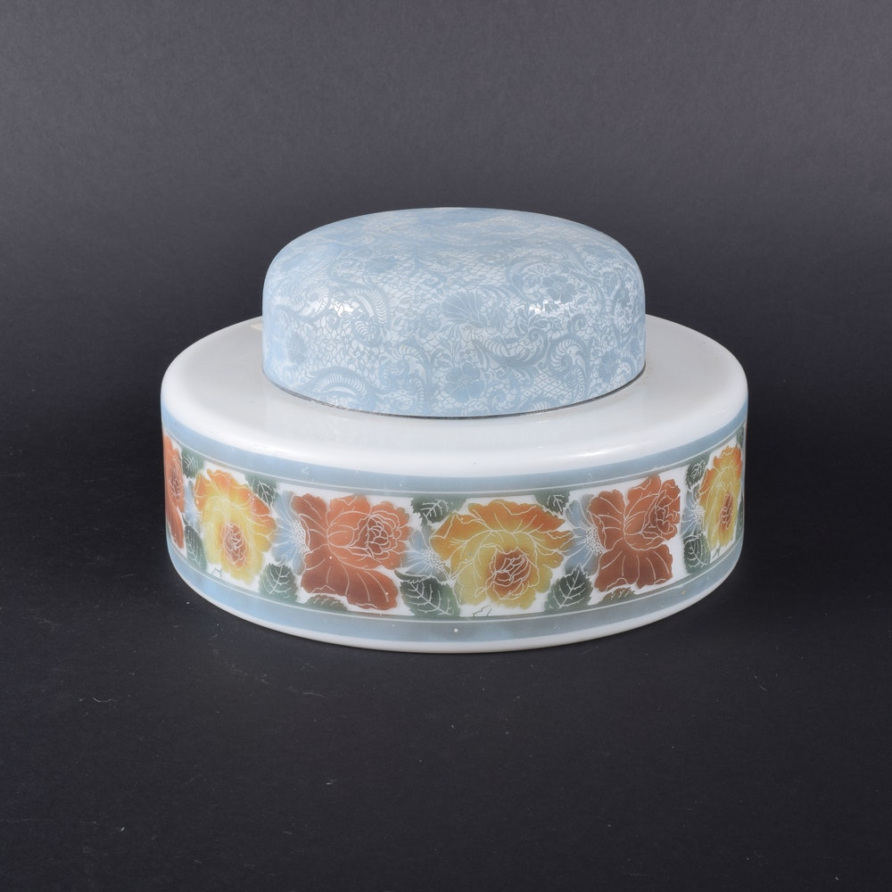 Floral Themed Glass Light Shade