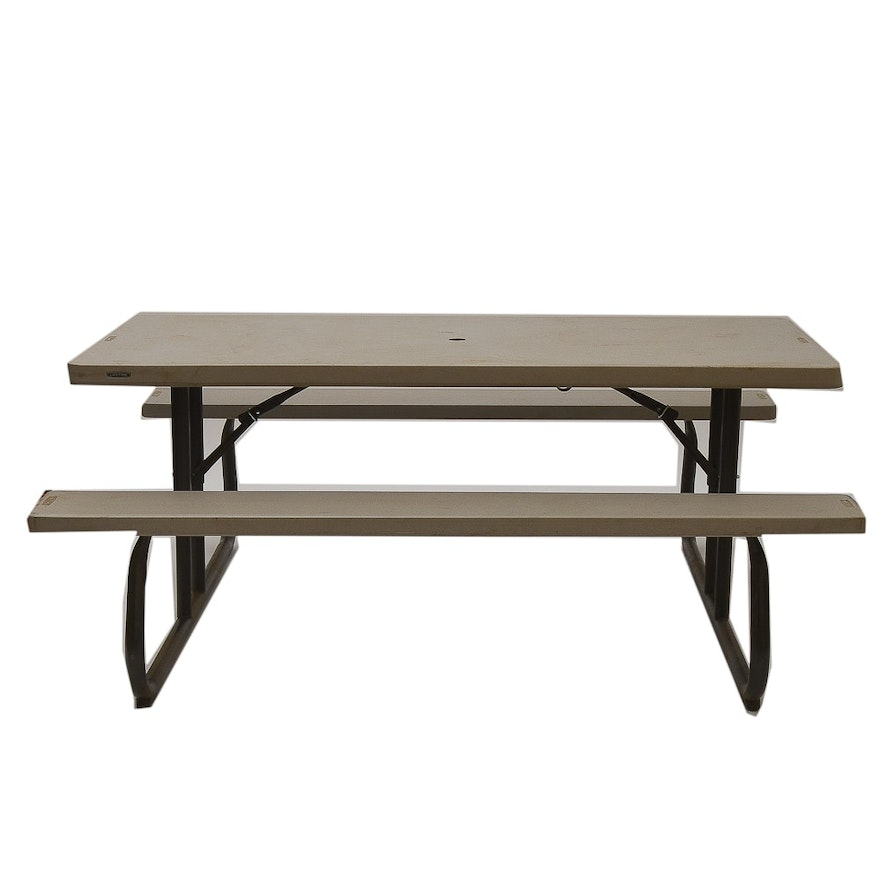 Swell 6 Folding Picnic Table With Attached Bench Seats By Lifetime Ibusinesslaw Wood Chair Design Ideas Ibusinesslaworg
